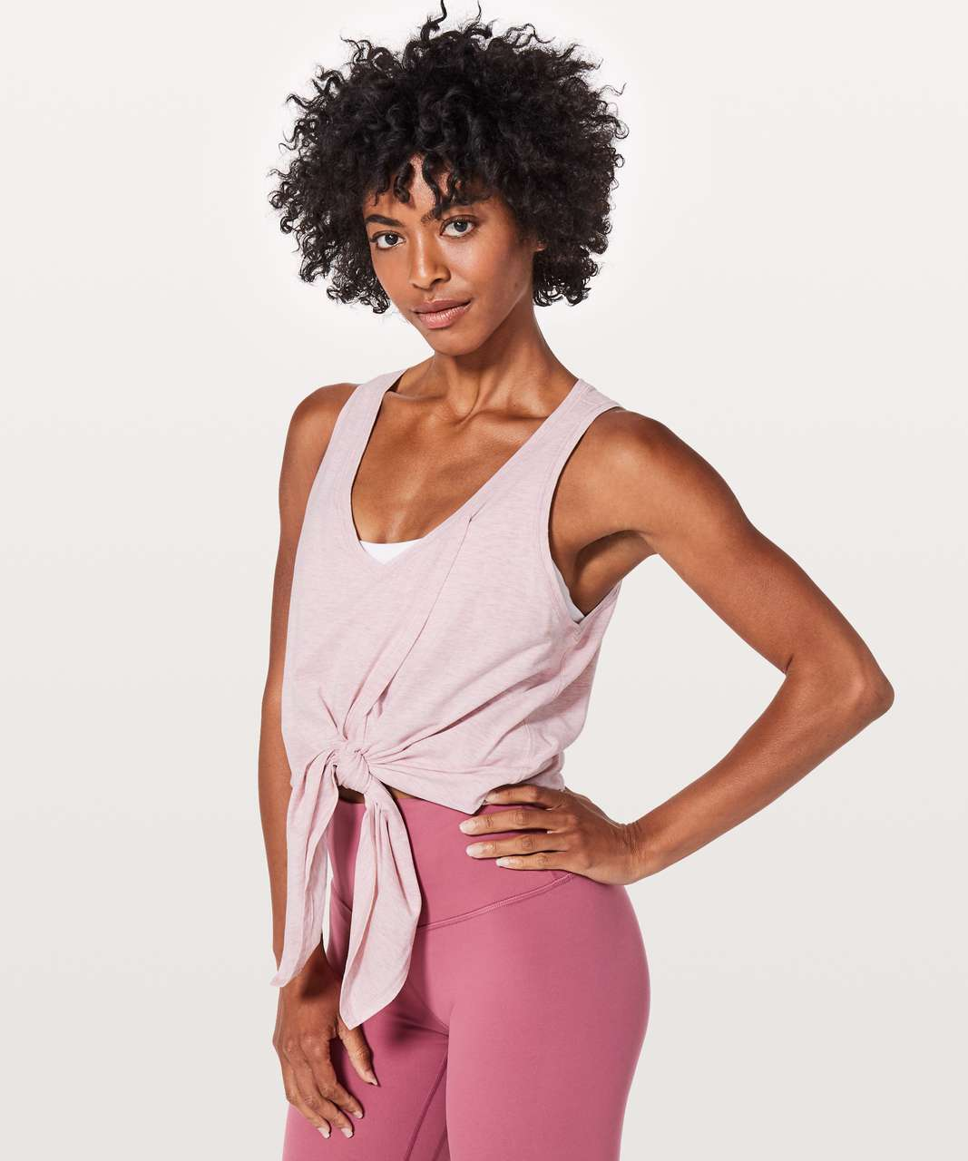 Lululemon Knot A Problem Tank - Heathered Petals