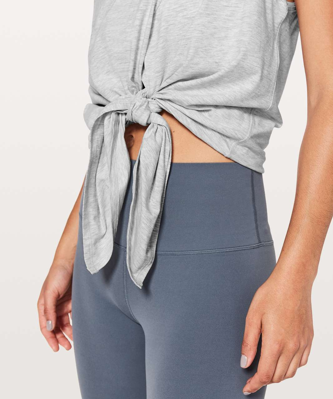 Lululemon Knot A Problem Tank - Heathered Core Ultra Light Grey