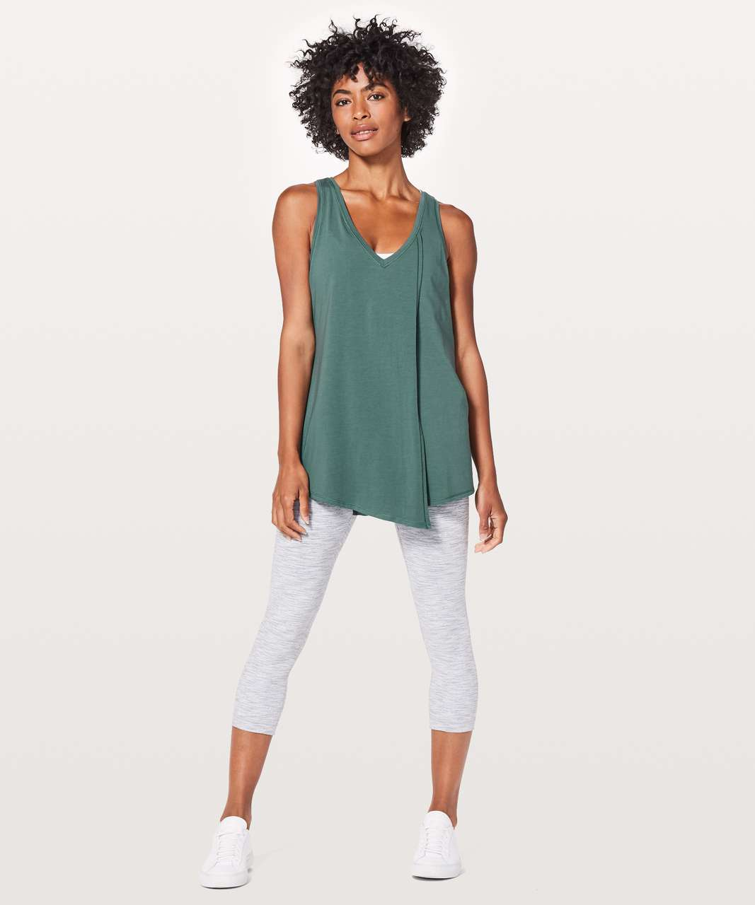 Lululemon Knot A Problem Tank - Graphite Green