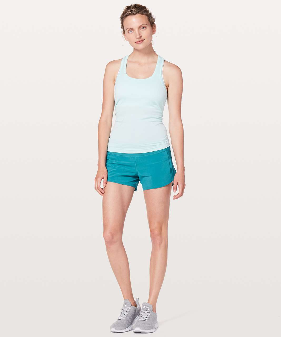 "Lululemon Speed Up Short *Long 4"" - Teal Blue"