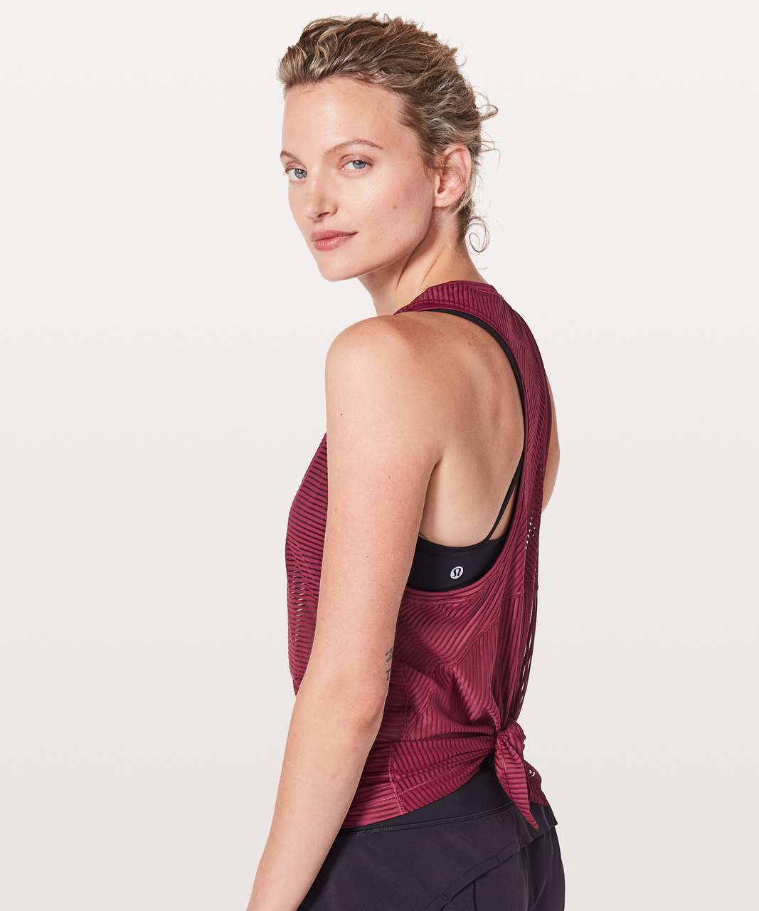 Lululemon Miles Ahead Tank - Ruby Wine
