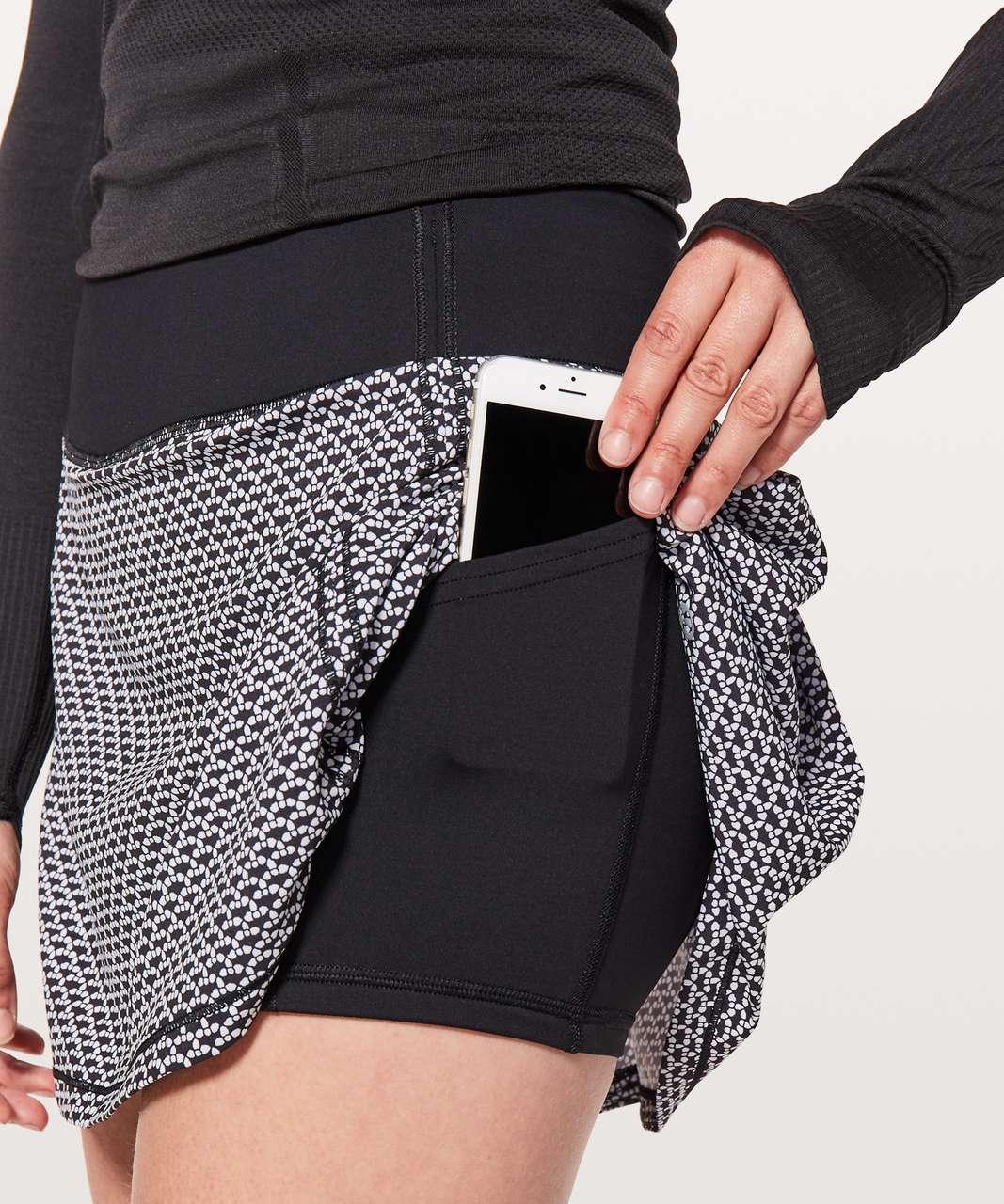 Lululemon Pace Rival Skirt (Tall) *No Panels - Monochromic Black / Black
