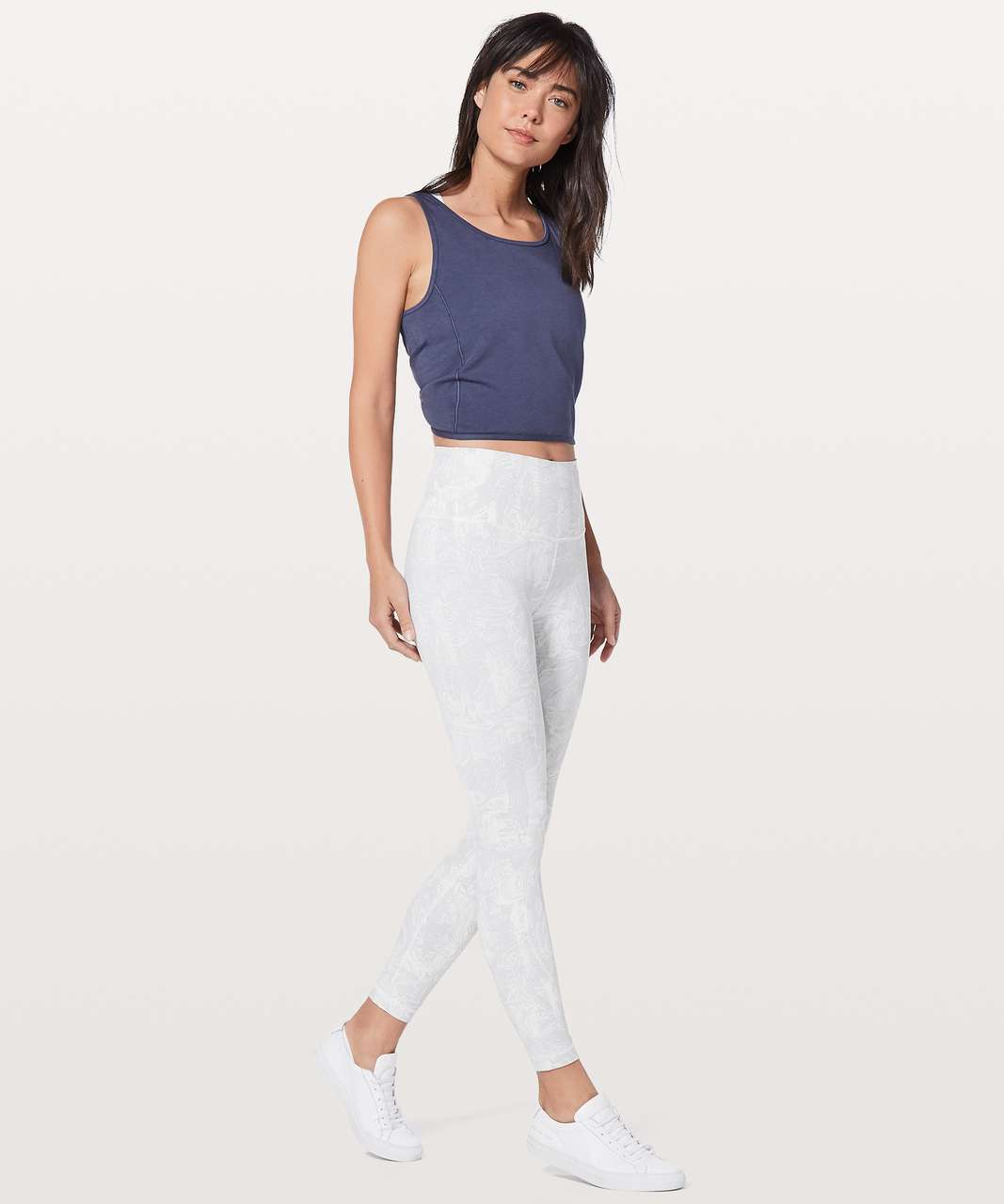 "Lululemon Wunder Under Hi-Rise 7/8 Tight 25"" - Eternal Wave White"