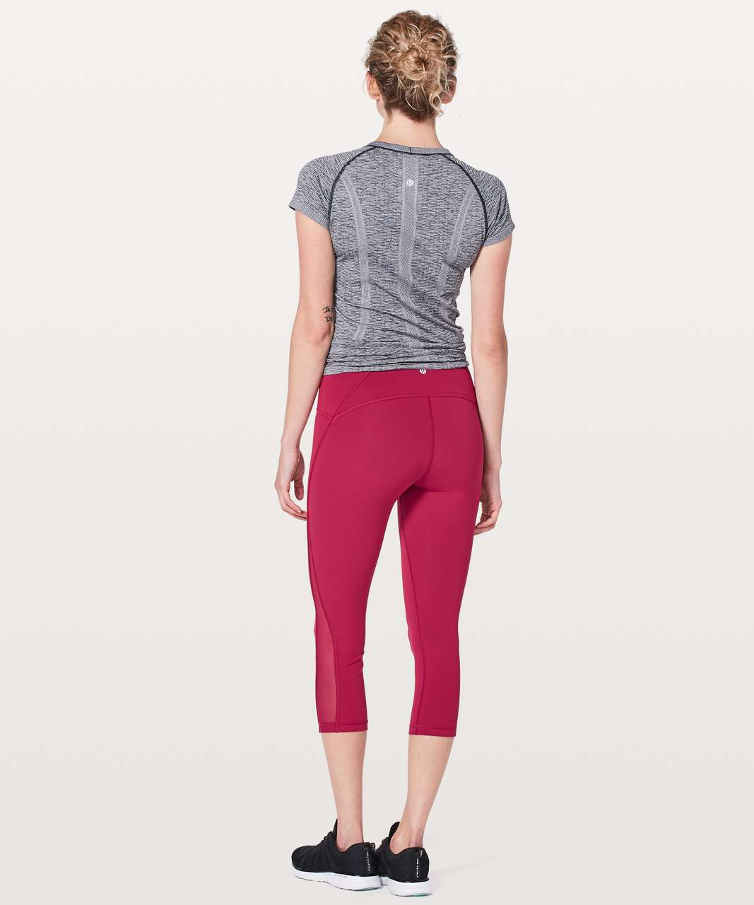 "Lululemon Train Times Crop *21"" - Ruby Red"