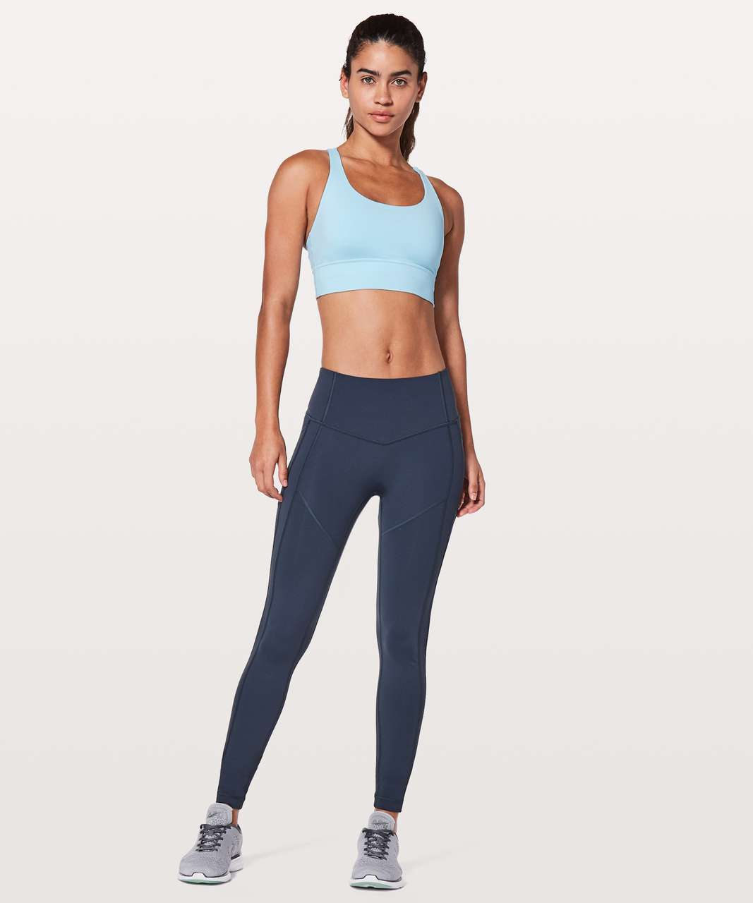 Lululemon Energy Bra *Long Line - Blue Glow