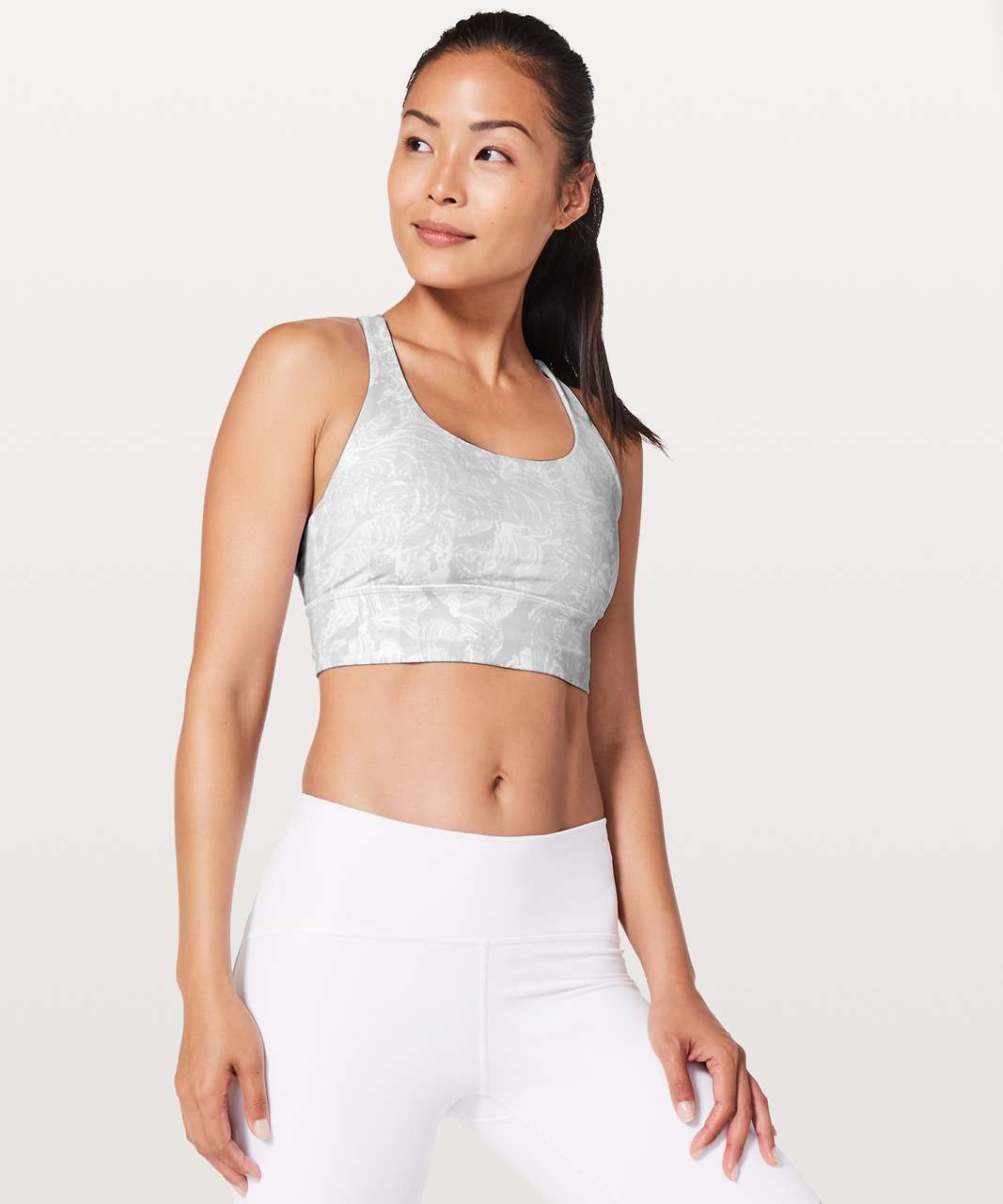Lululemon Energy Bra *Long Line - Eternal Wave White