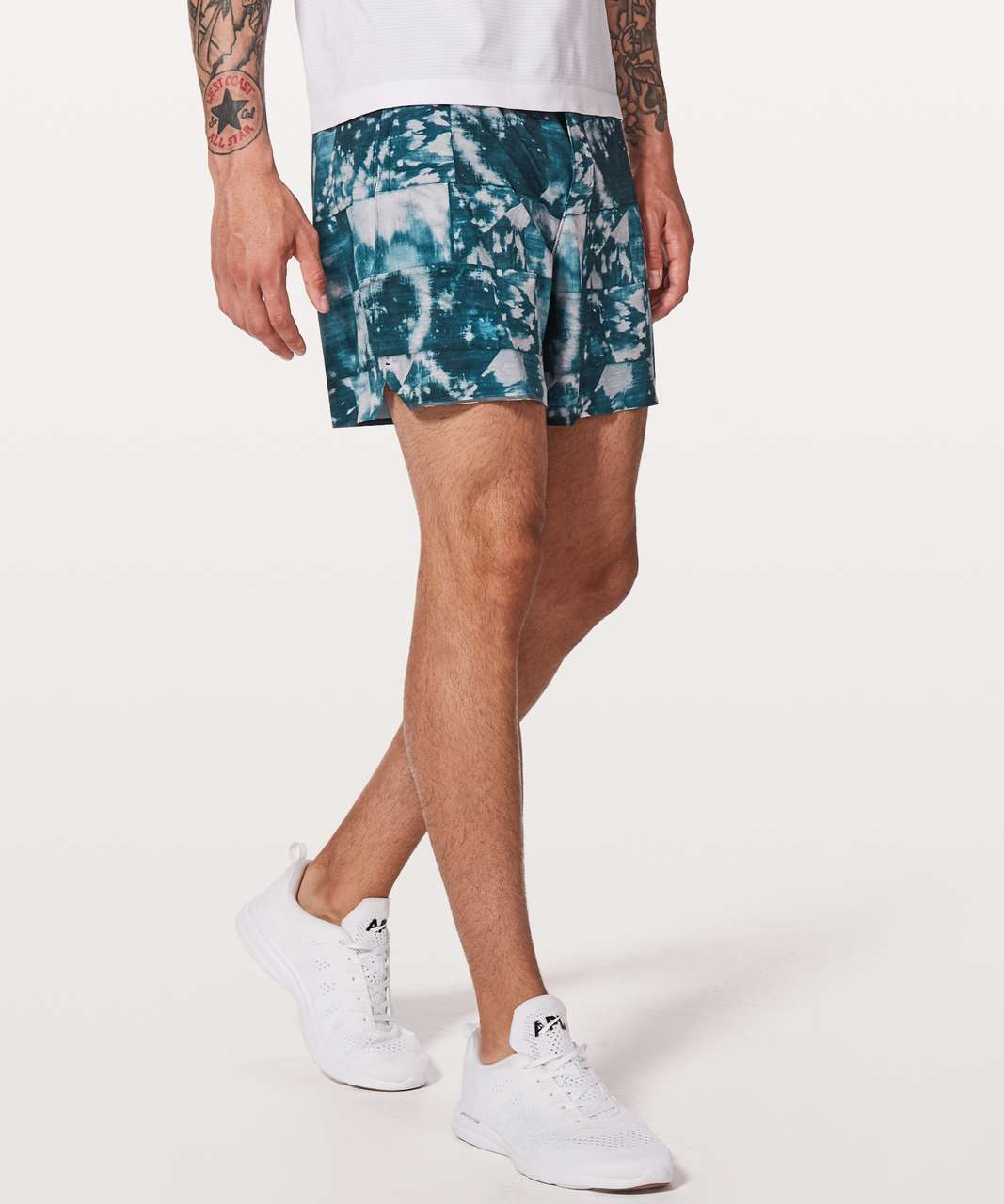 "Lululemon Surge Short *6"" Updated - Mini Bleached Indigo Starlight"