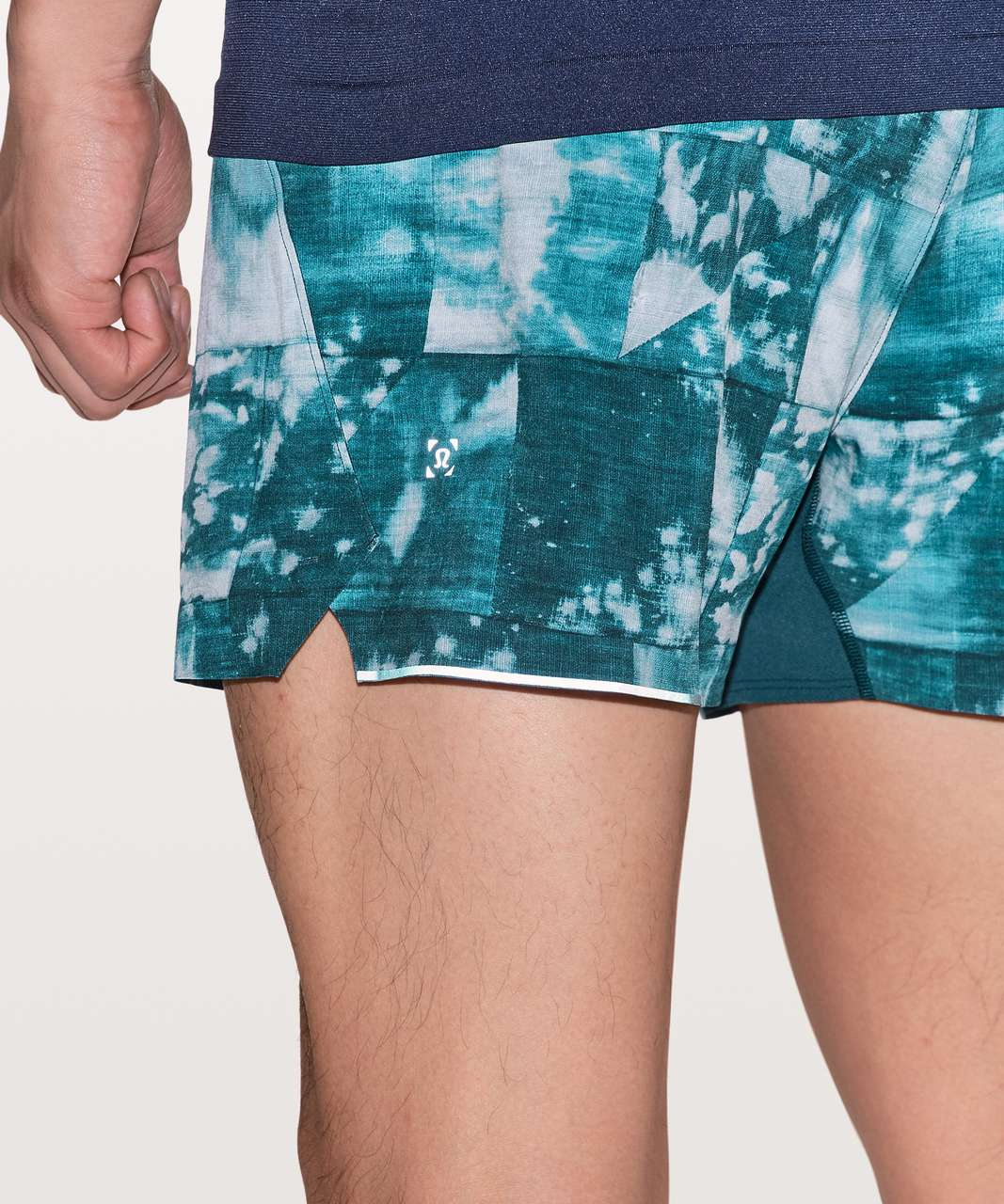 "Lululemon Surge Short *4"" Updated - Mini Bleached Indigo Starlight"