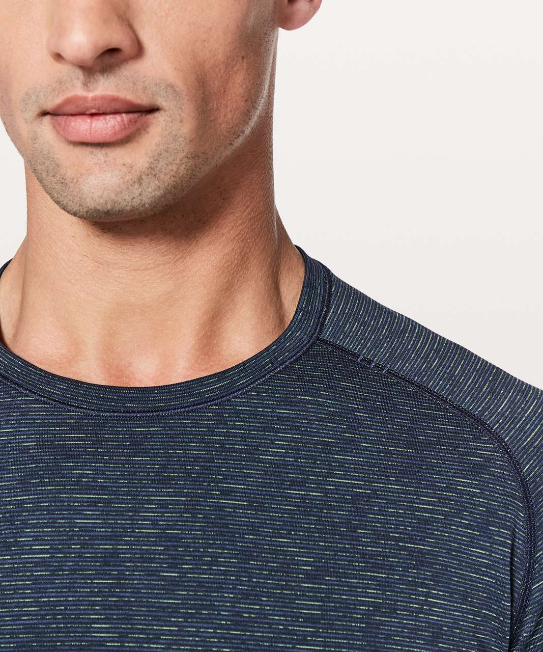Lululemon Metal Vent Tech Long Sleeve - Nautical Navy / Lime / Dark Blue / Black