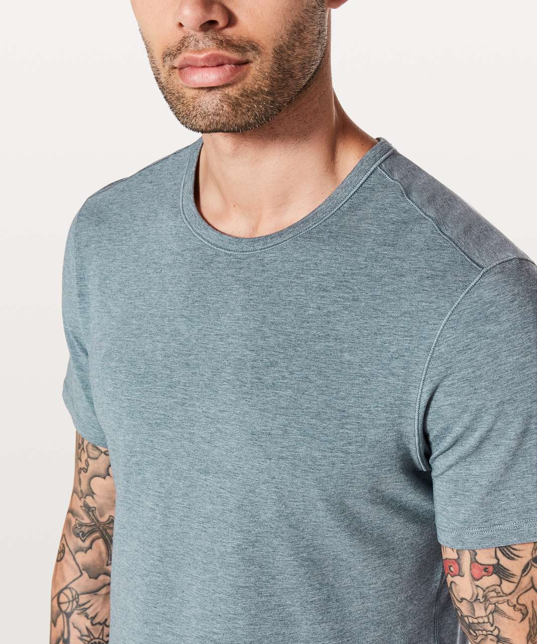 Lululemon 5 Year Basic Tee *Updated Fit - Heathered Mach Blue