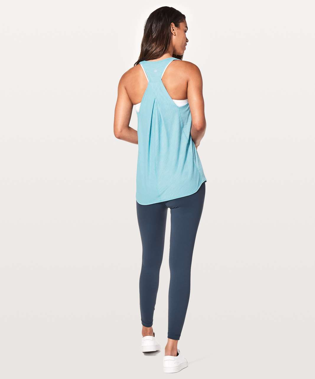 Lululemon Essential Tank - Heathered Eton Blue