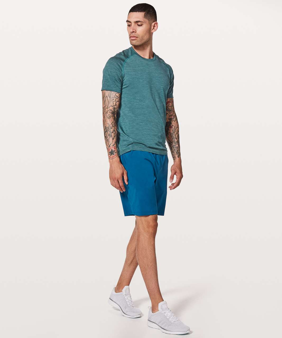 Lululemon Metal Vent Tech Short Sleeve - Mystic Green / Mariner