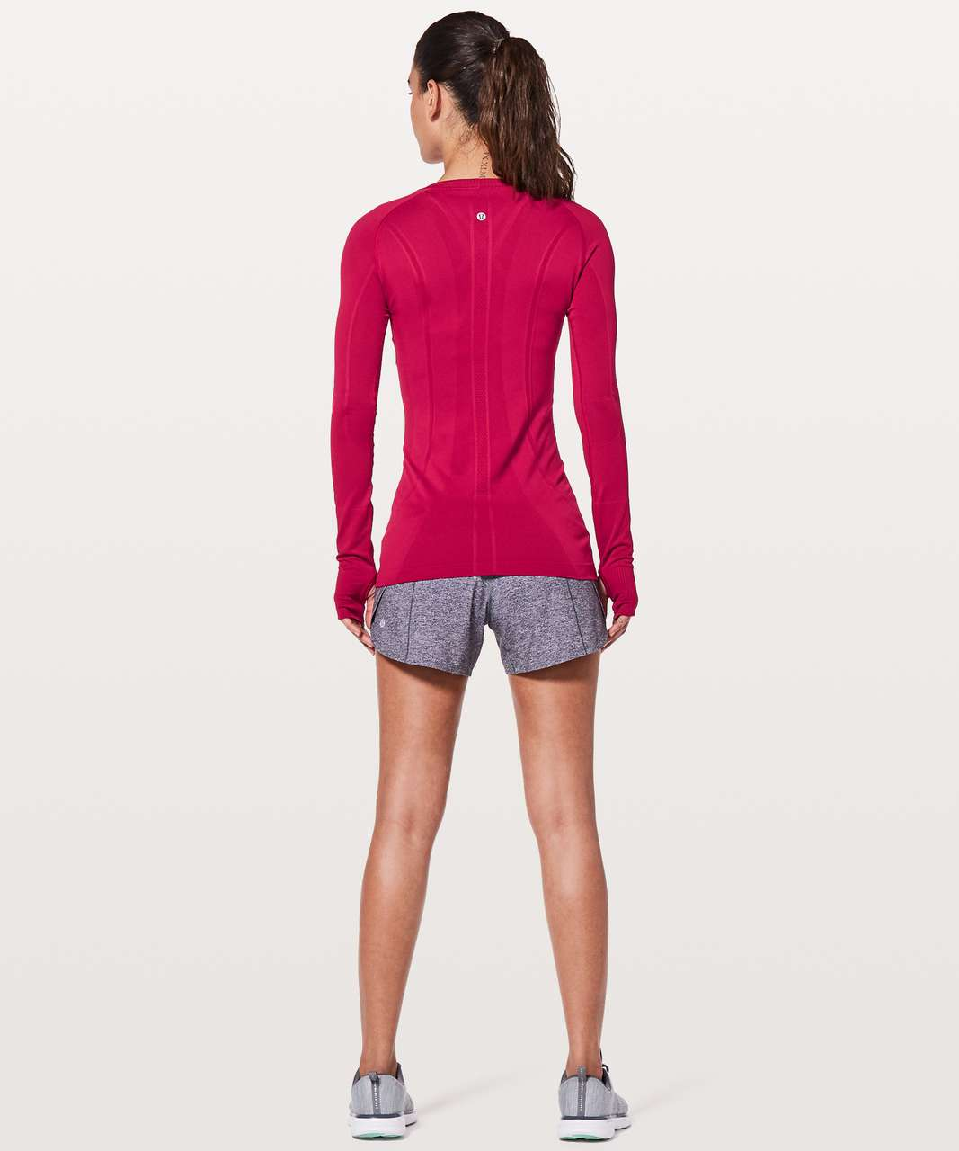Lululemon Swiftly Tech Long Sleeve Crew - Ruby Red / Ruby Red