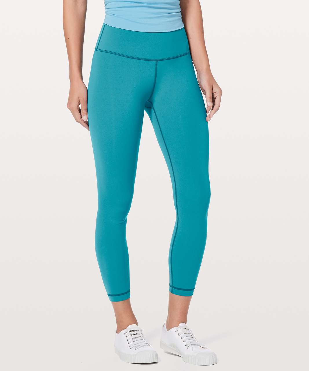 "Lululemon Wunder Under Hi-Rise 7/8 Tight *25"" - Pacific Teal"