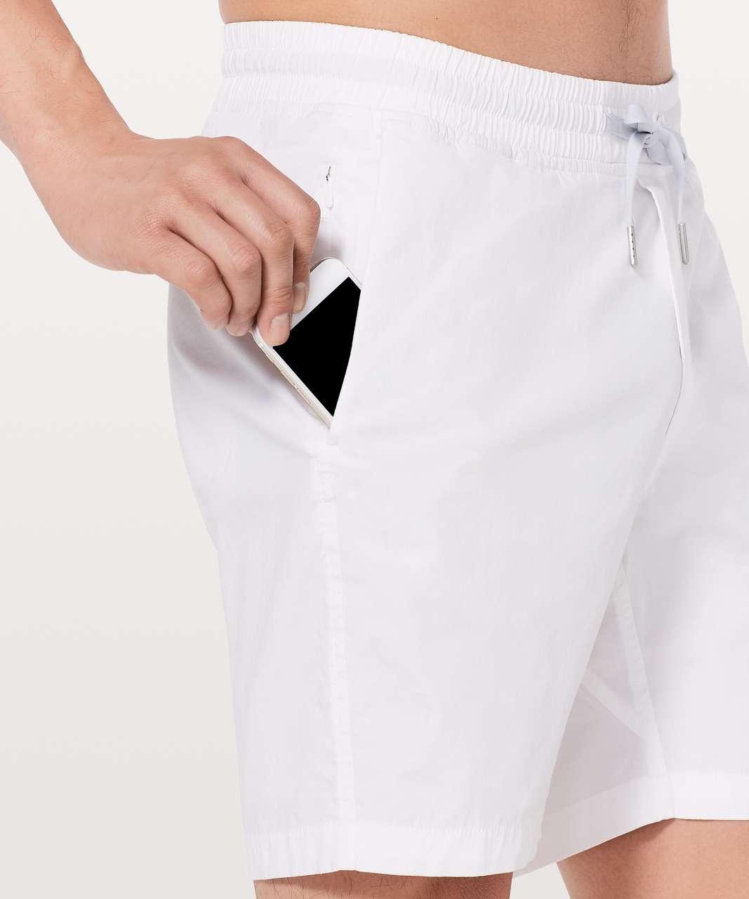 """Lululemon Bowline Short *8"""" - White"""