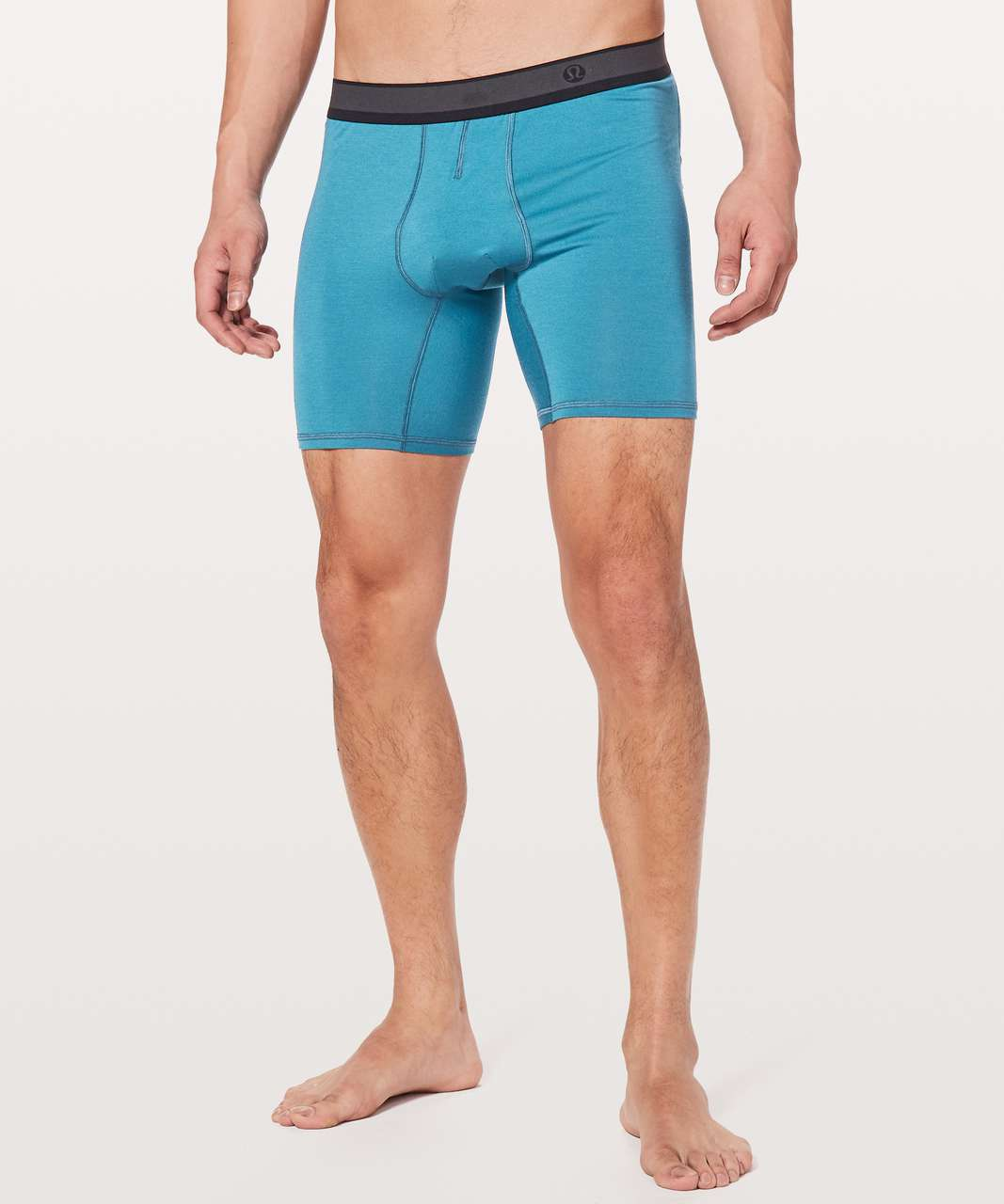 "Lululemon No Boxer Boxer (The Long One) *7.5"" - Pewter Blue"