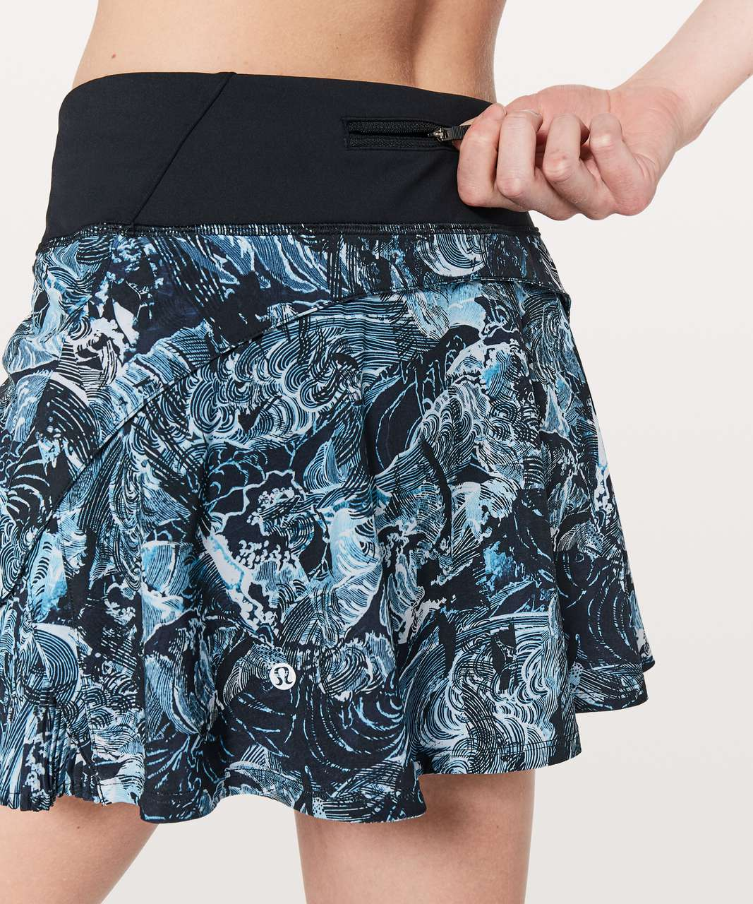 "Lululemon Play Off The Pleats Skirt *13"" - Eternal Wave Starlight Black / Black"