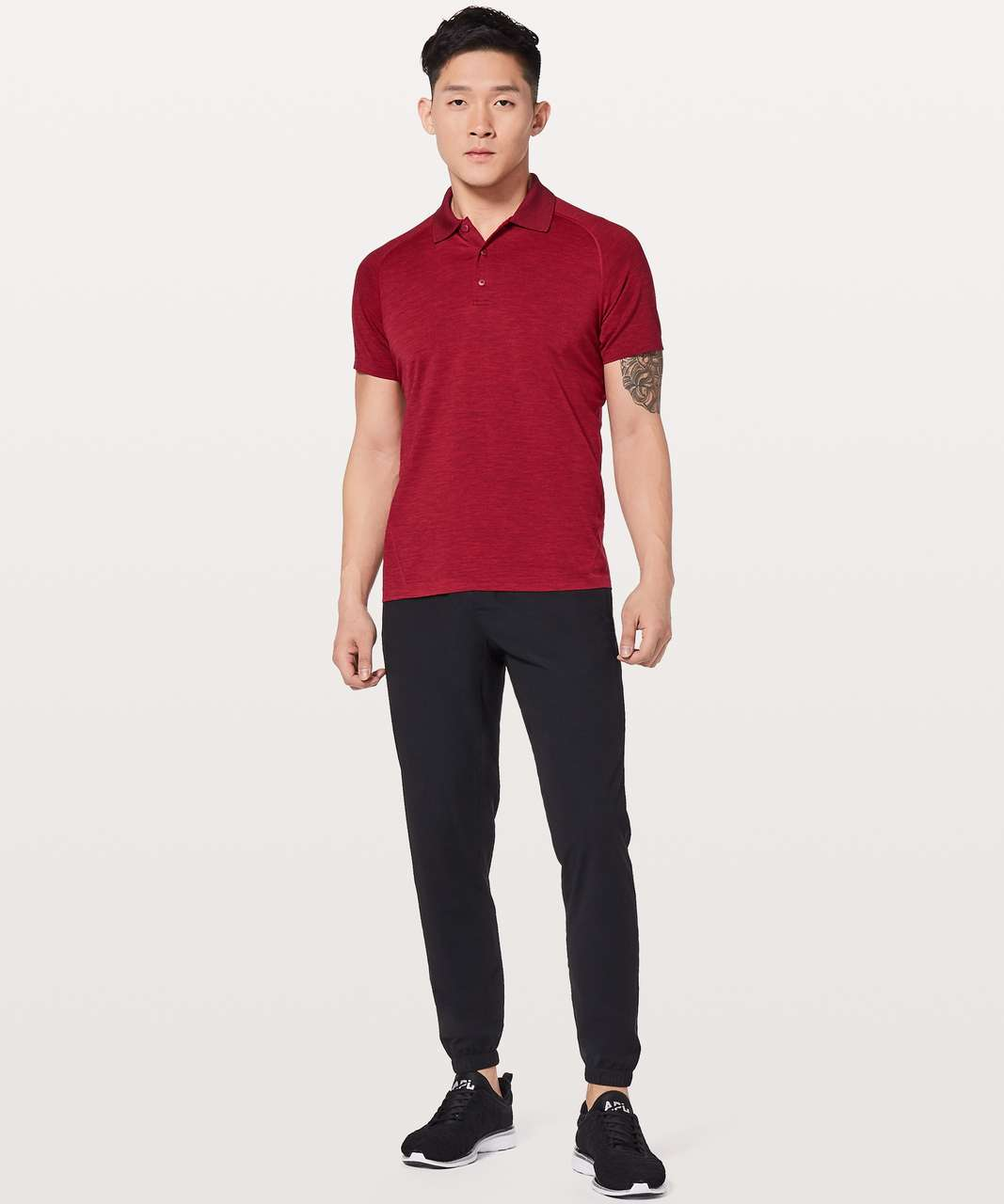 Lululemon Metal Vent Tech Polo - Bold Red / Deep Rouge