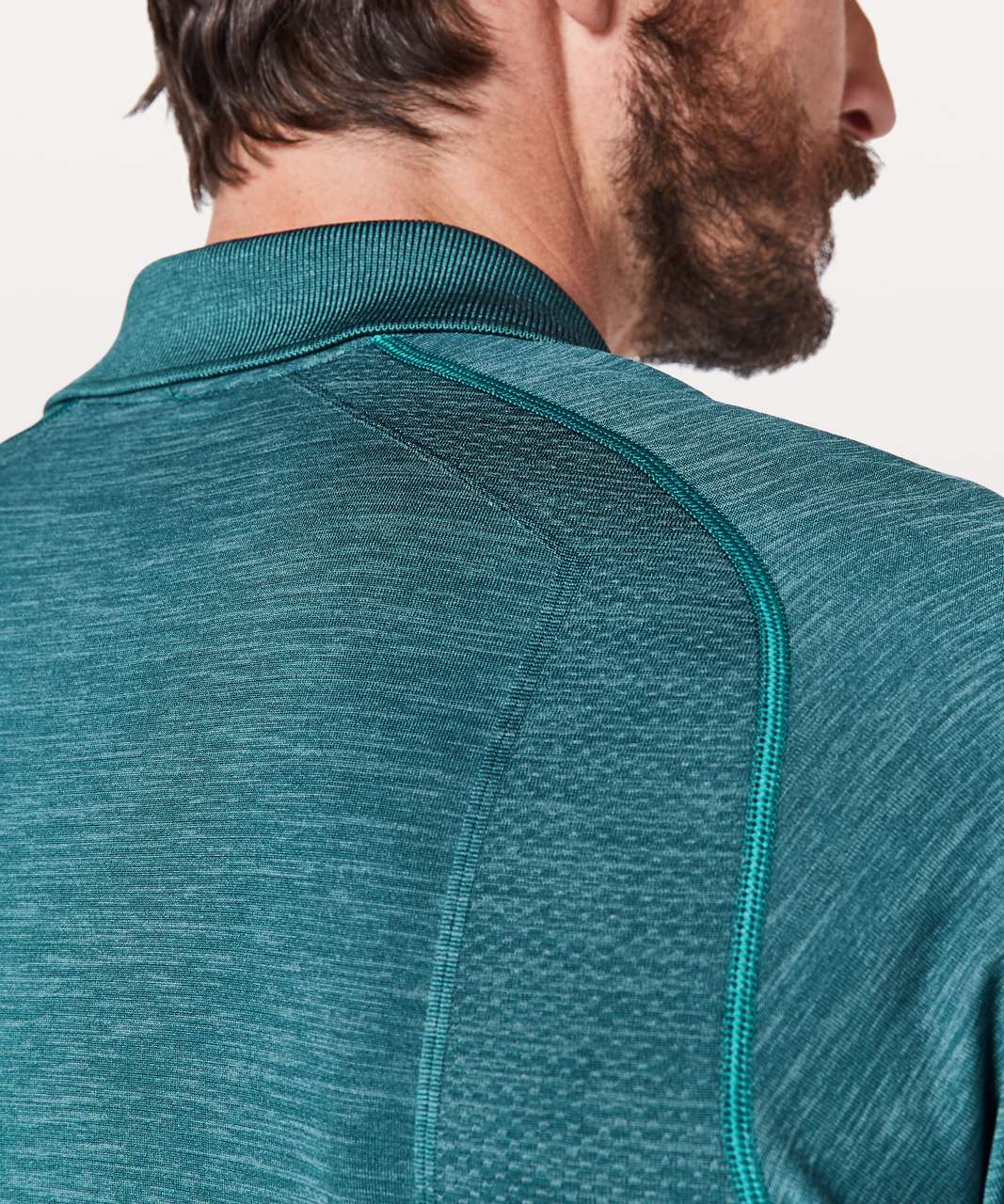 Lululemon Metal Vent Tech Polo - Mystic Green / Mariner