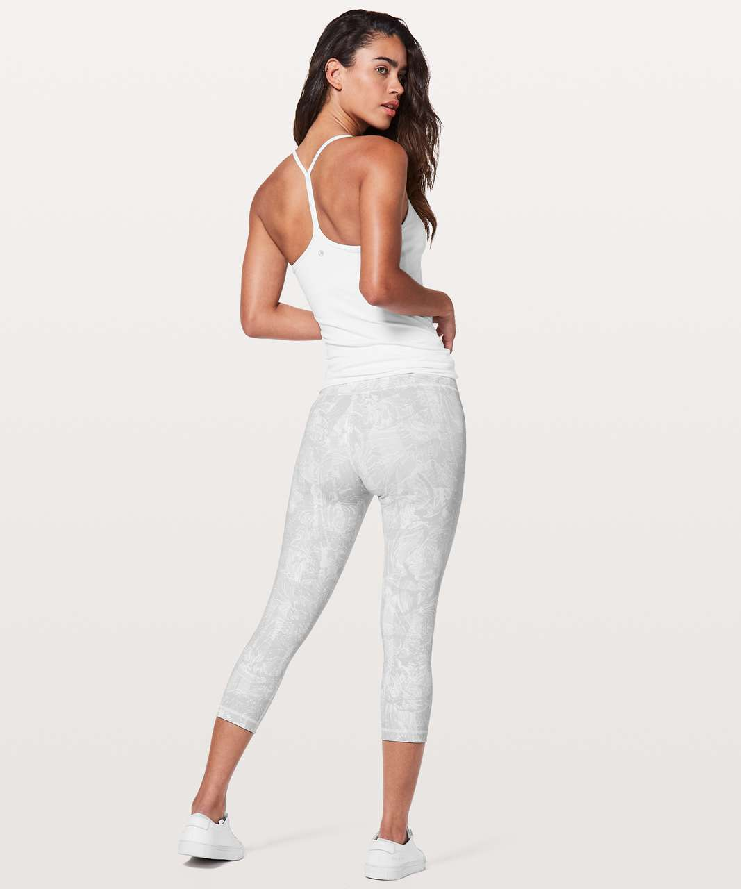 "Lululemon Wunder Under Crop (Hi-Rise) *21"" - Eternal Wave White"
