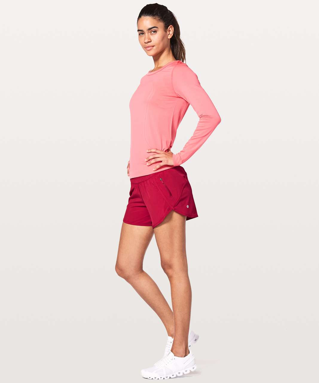 "Lululemon Tracker Short V *4"" - Ruby Red"