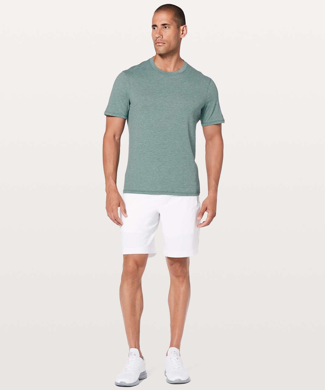 Lululemon Somatic Aero Short Sleeve - Heathered Deep Cove