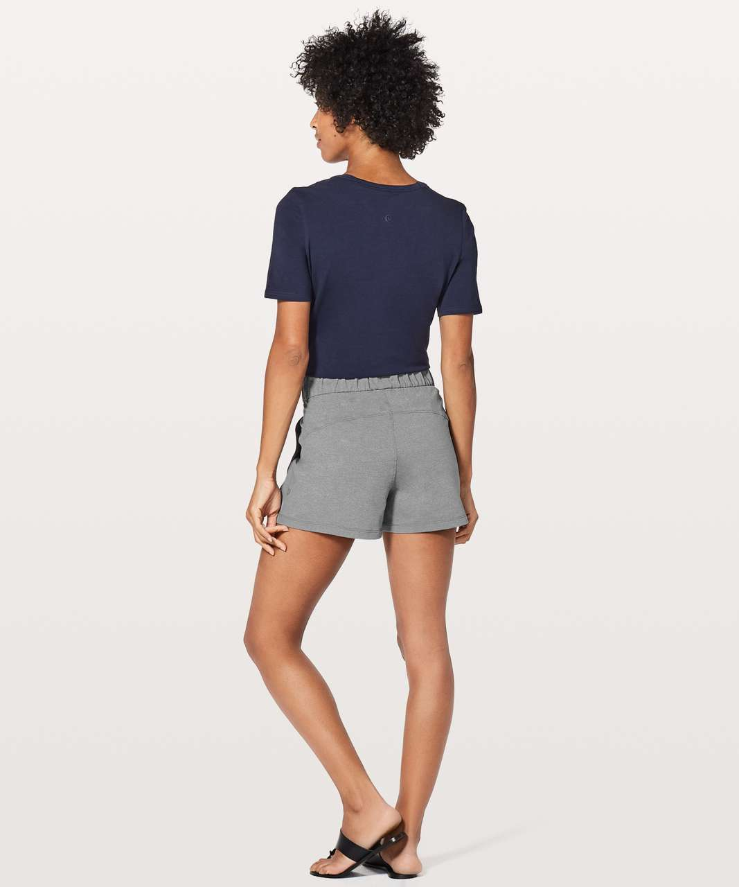"Lululemon On The Fly Short *2.5"" - Heathered Slate (First Release)"