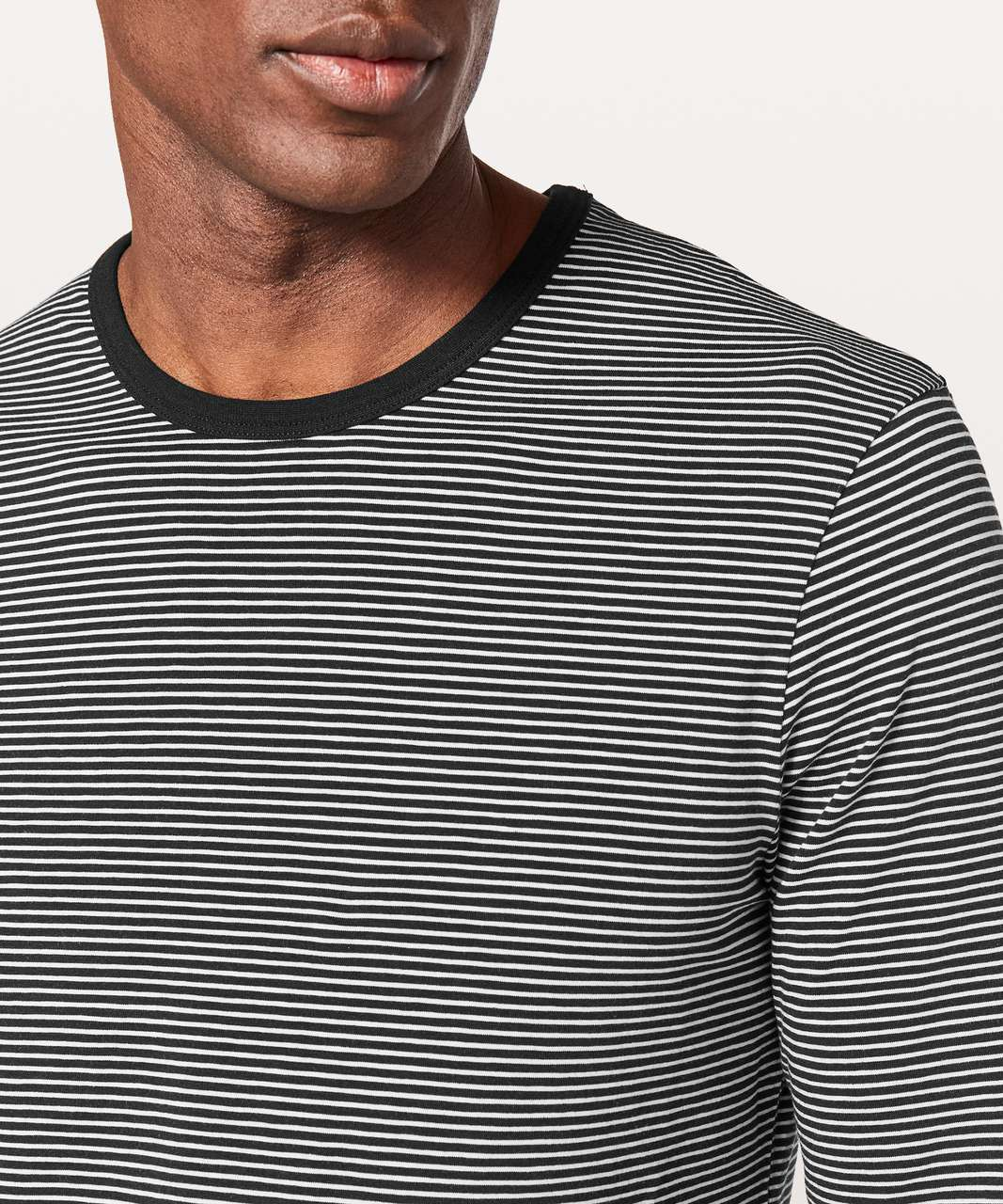 Lululemon 5 Year Basic Long Sleeve - Hyper Stripe Black / White