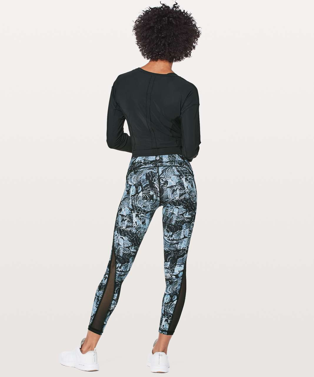 "Lululemon Train Times 7/8 Pant *25"" - Eternal Wave Starlight Black / Black"
