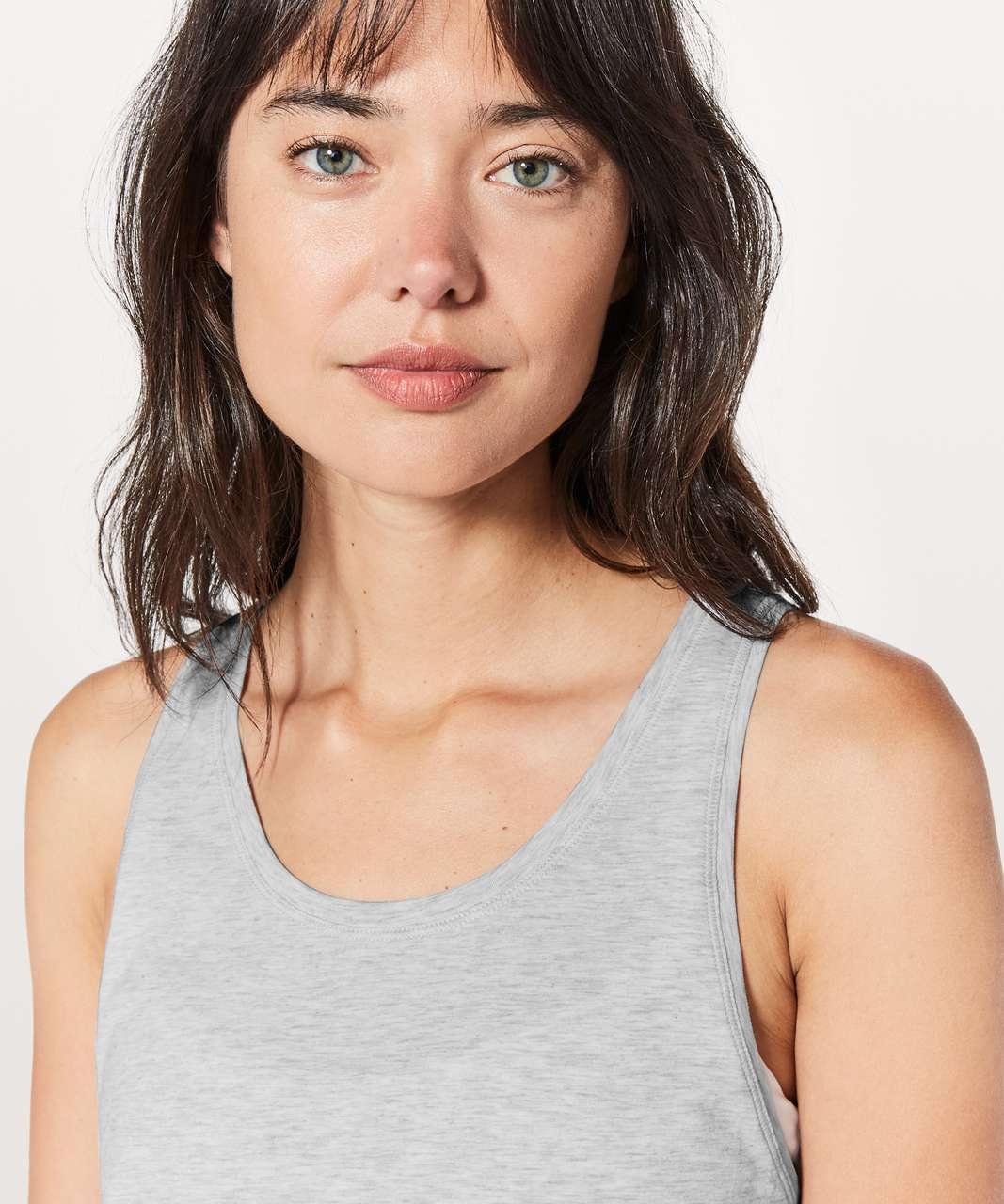 Lululemon To The Point Tank - Heathered Core Ultra Light Grey