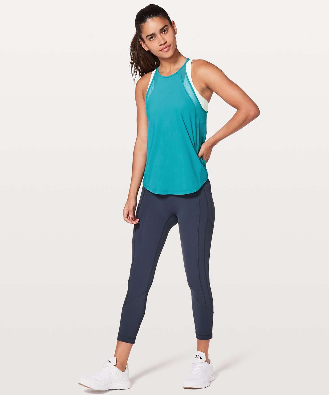Lululemon Run Off-Route Tank - Teal Blue