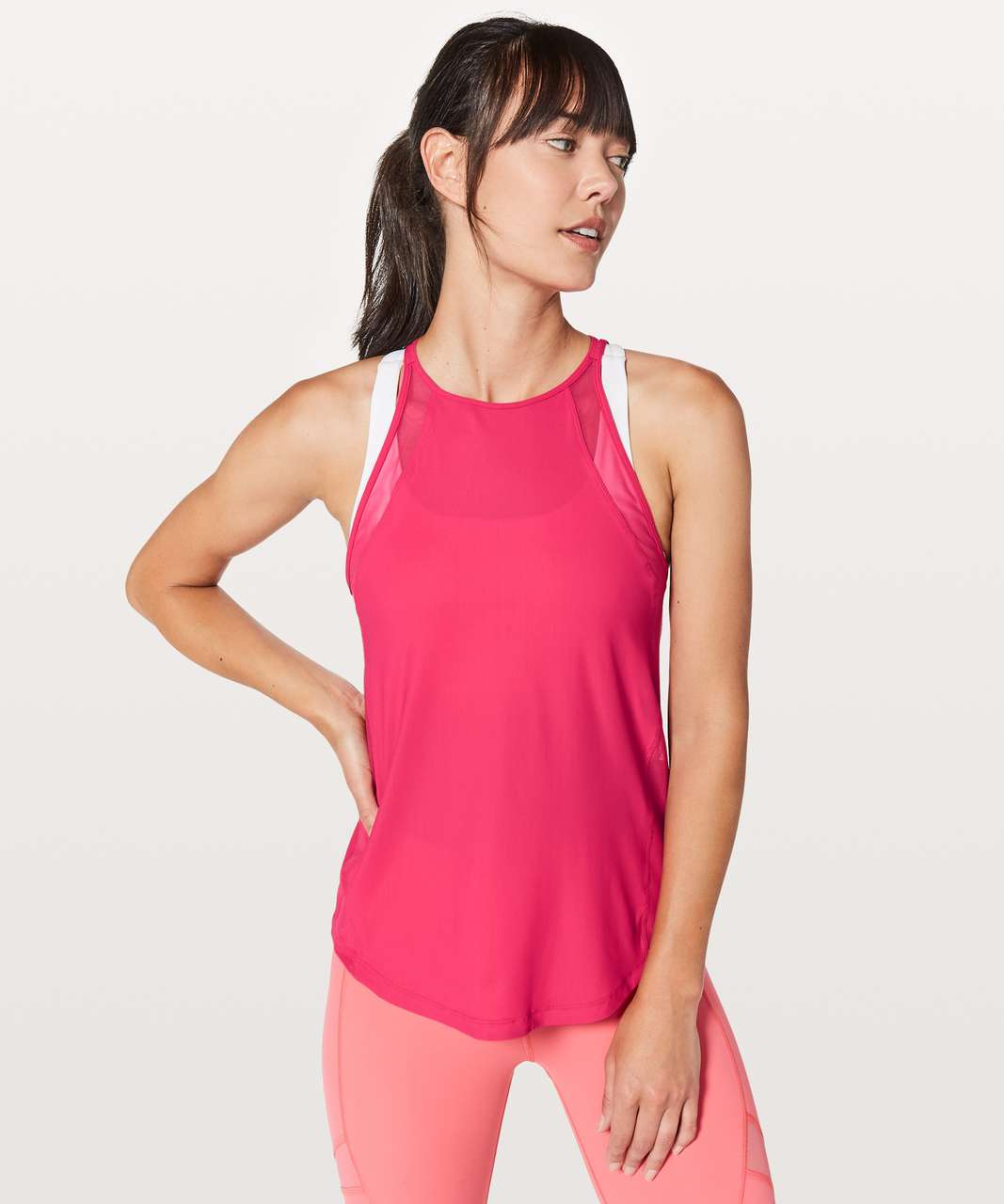 Lululemon Run Off-Route Tank - Fuchsia Pink