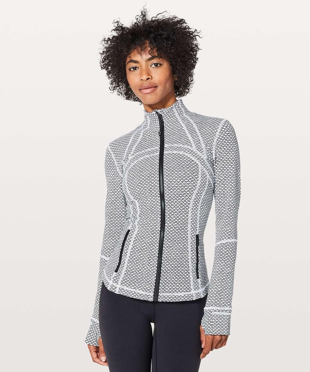 Lululemon Define Jacket - Monochromic White / Black