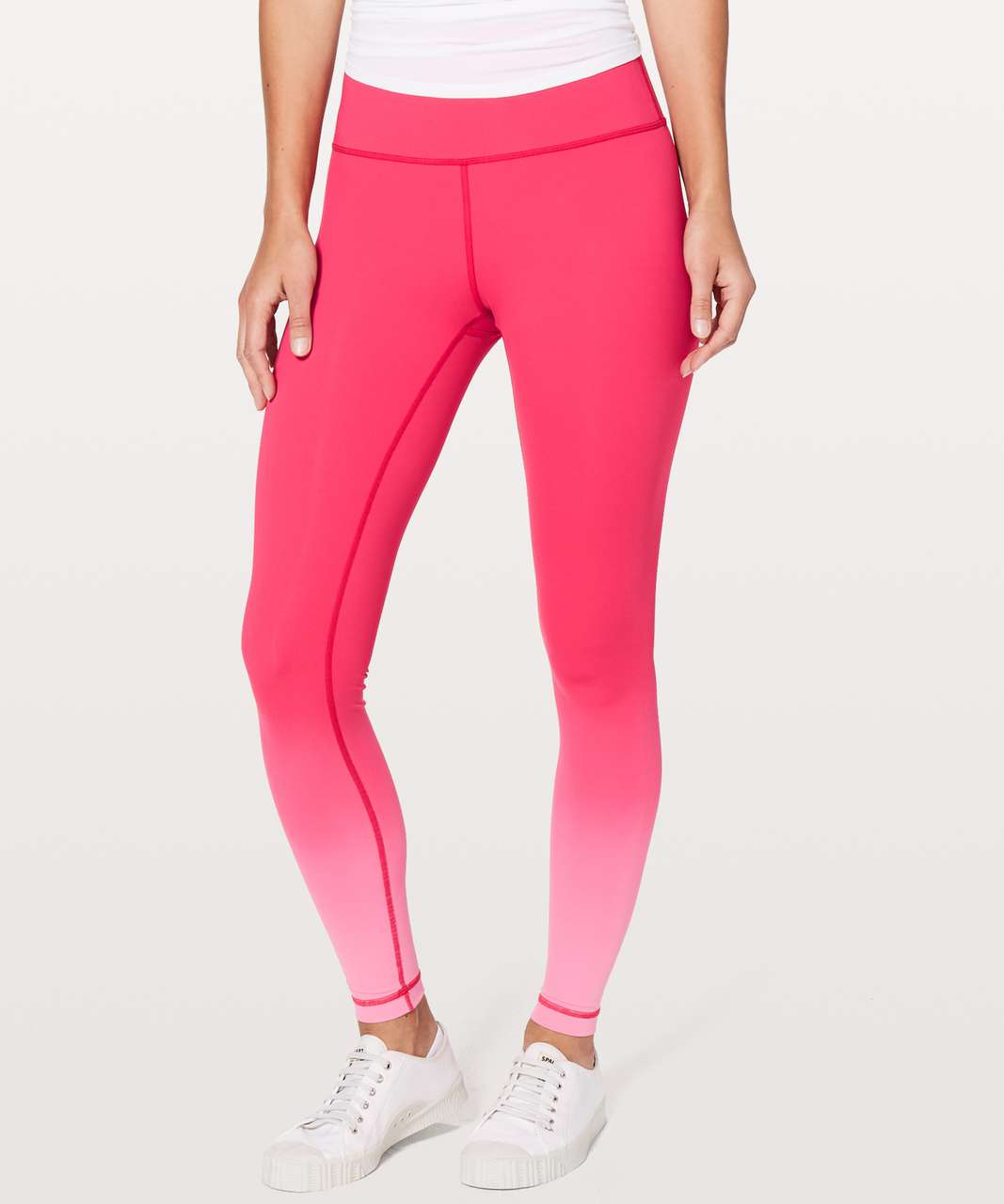 """Lululemon Wunder Under Hi-Rise Tight (Ombre) *28"""" - Ombre Fuchsia Pink"""