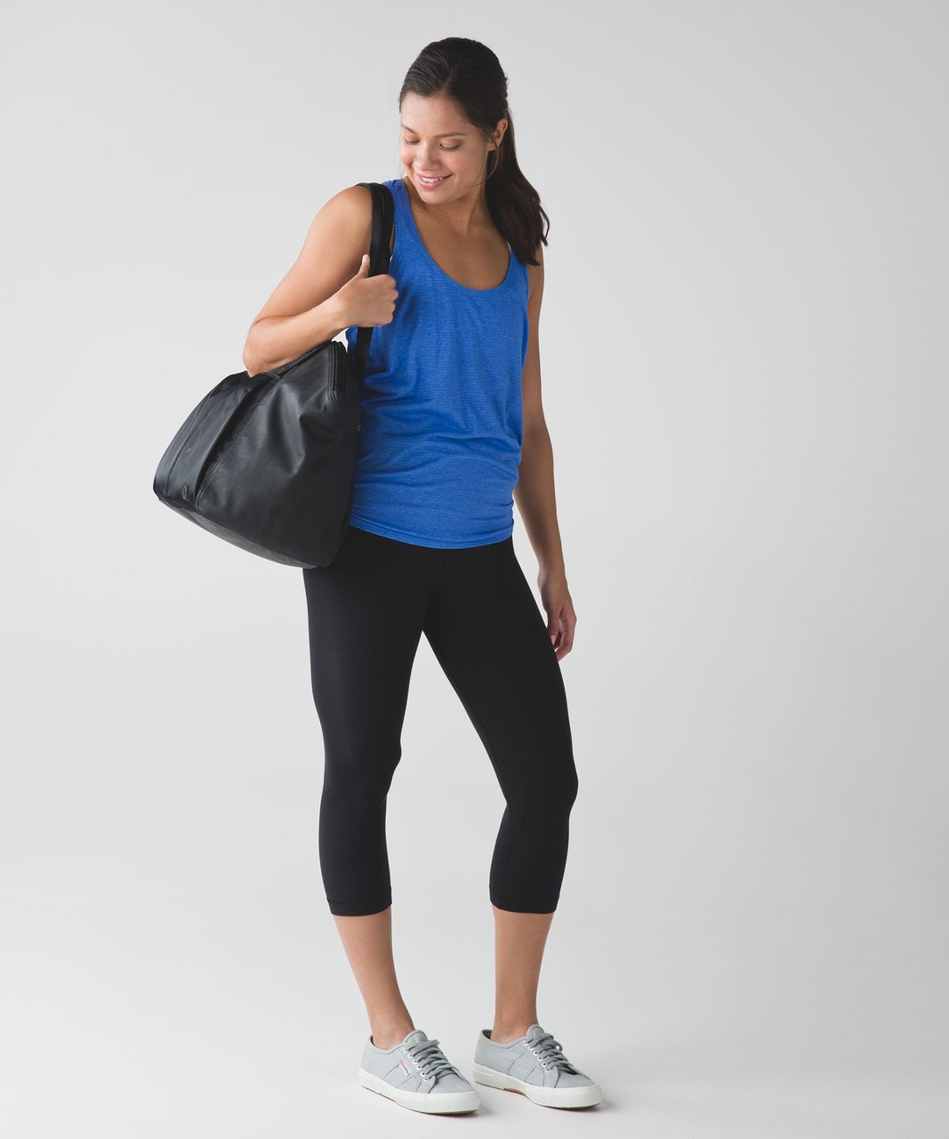 Lululemon Salute the Sun Tank - Heathered Harbor Blue