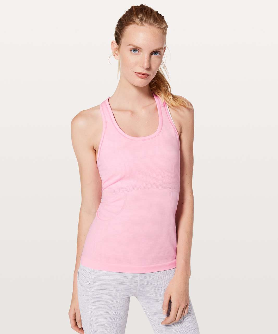 Lululemon Swiftly Tech Racerback - Miami Pink / White