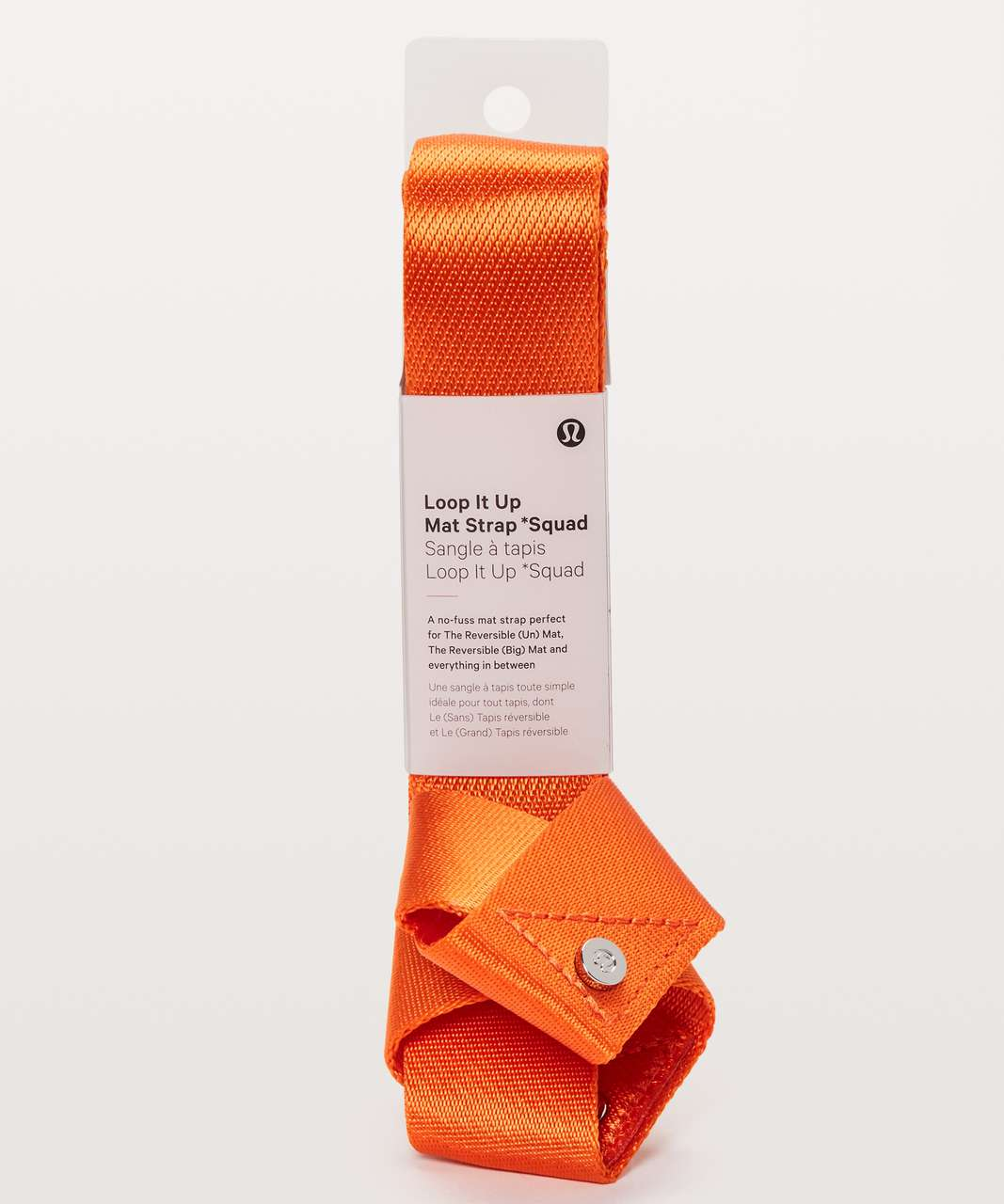 Lululemon Loop It Up Mat Strap *Squad - Orange Flash / Glossy