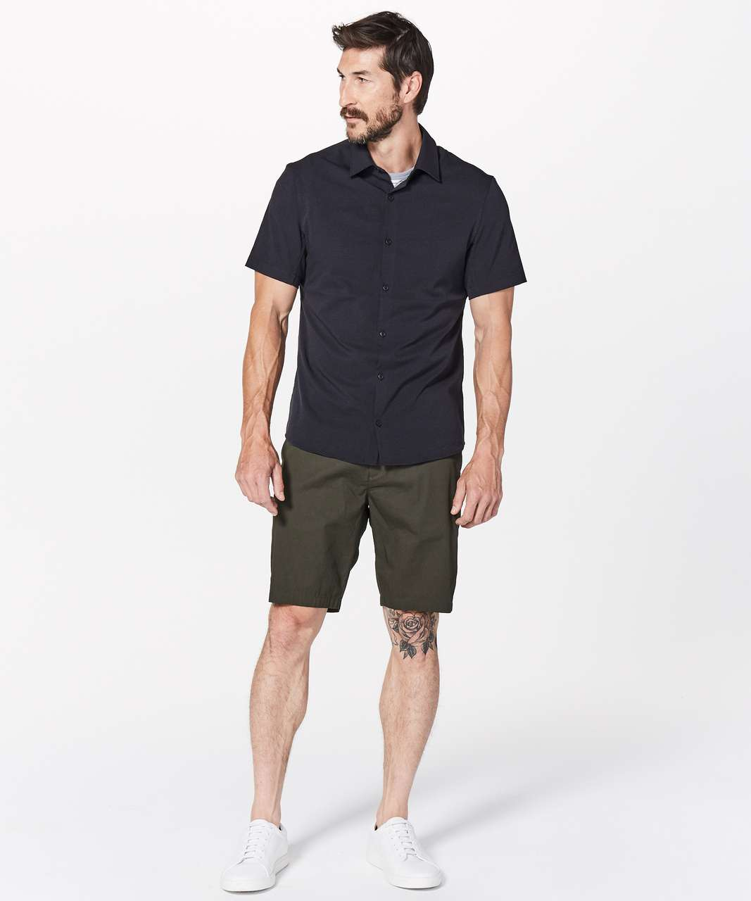 Lululemon Airing Easy Short Sleeve Buttondown - Black