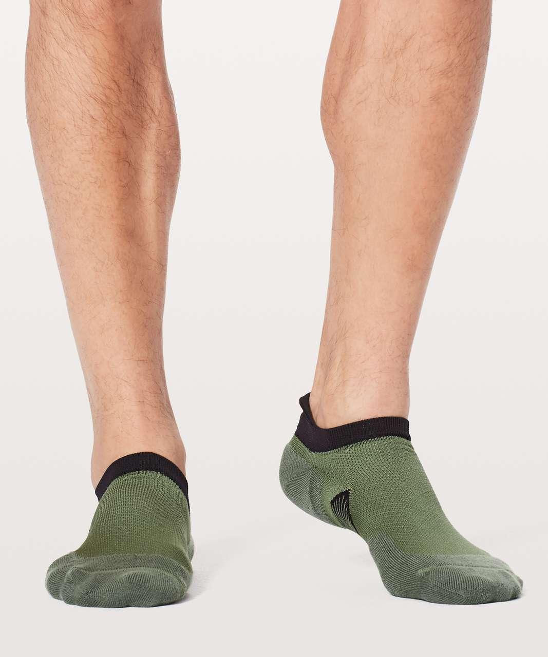 Lululemon T.H.E. Sock *Silver - Green Twill / Black