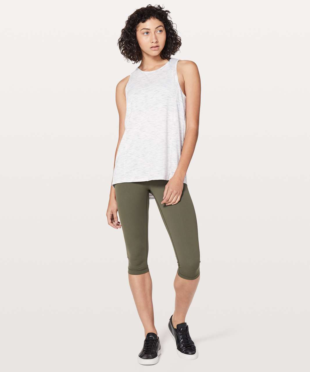 Lululemon Low Key Tank *Silver - Tiger Space Dye Hail White