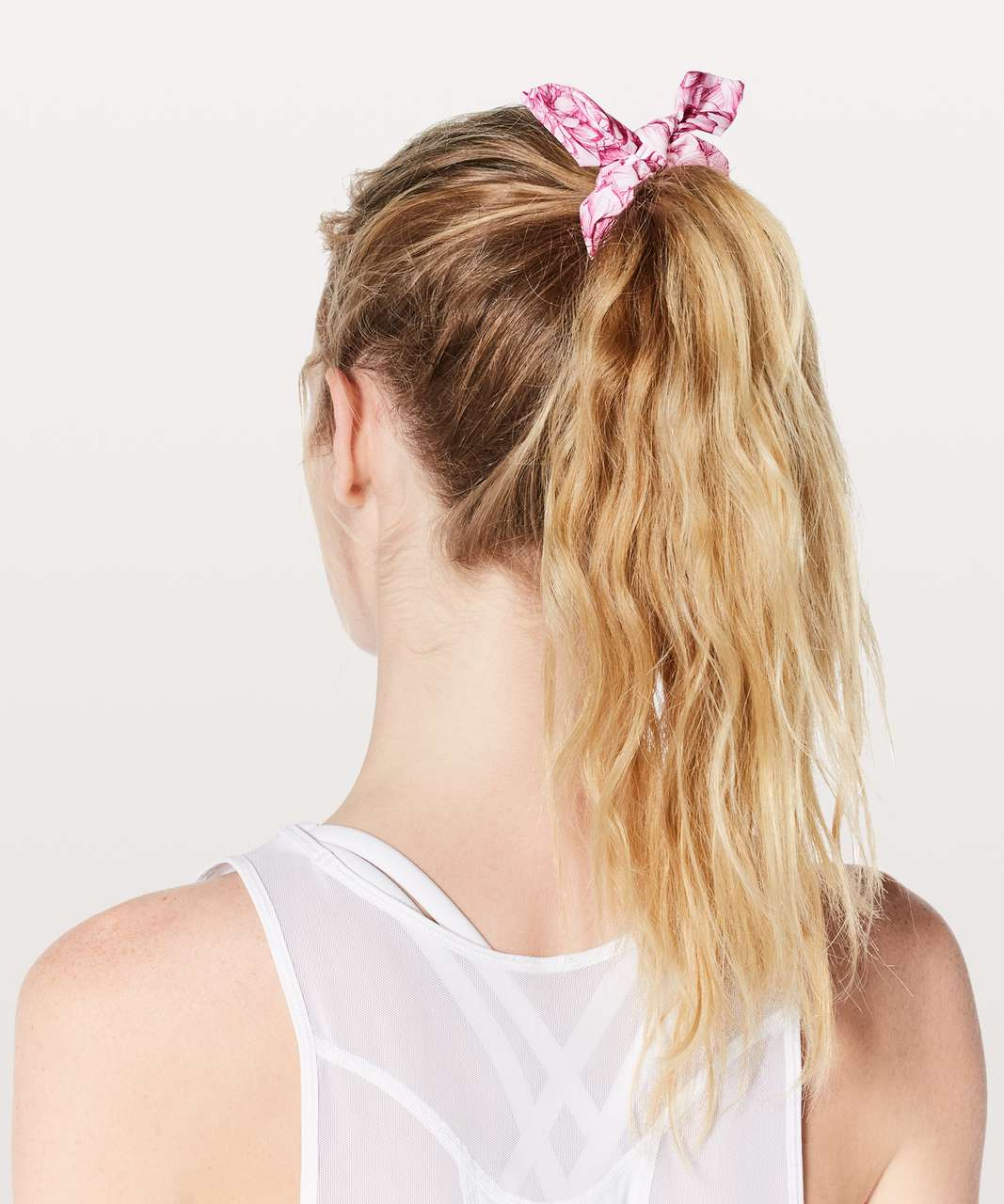 Lululemon Uplifting Scrunchie *Bow - Floral Bloom White Star Ruby