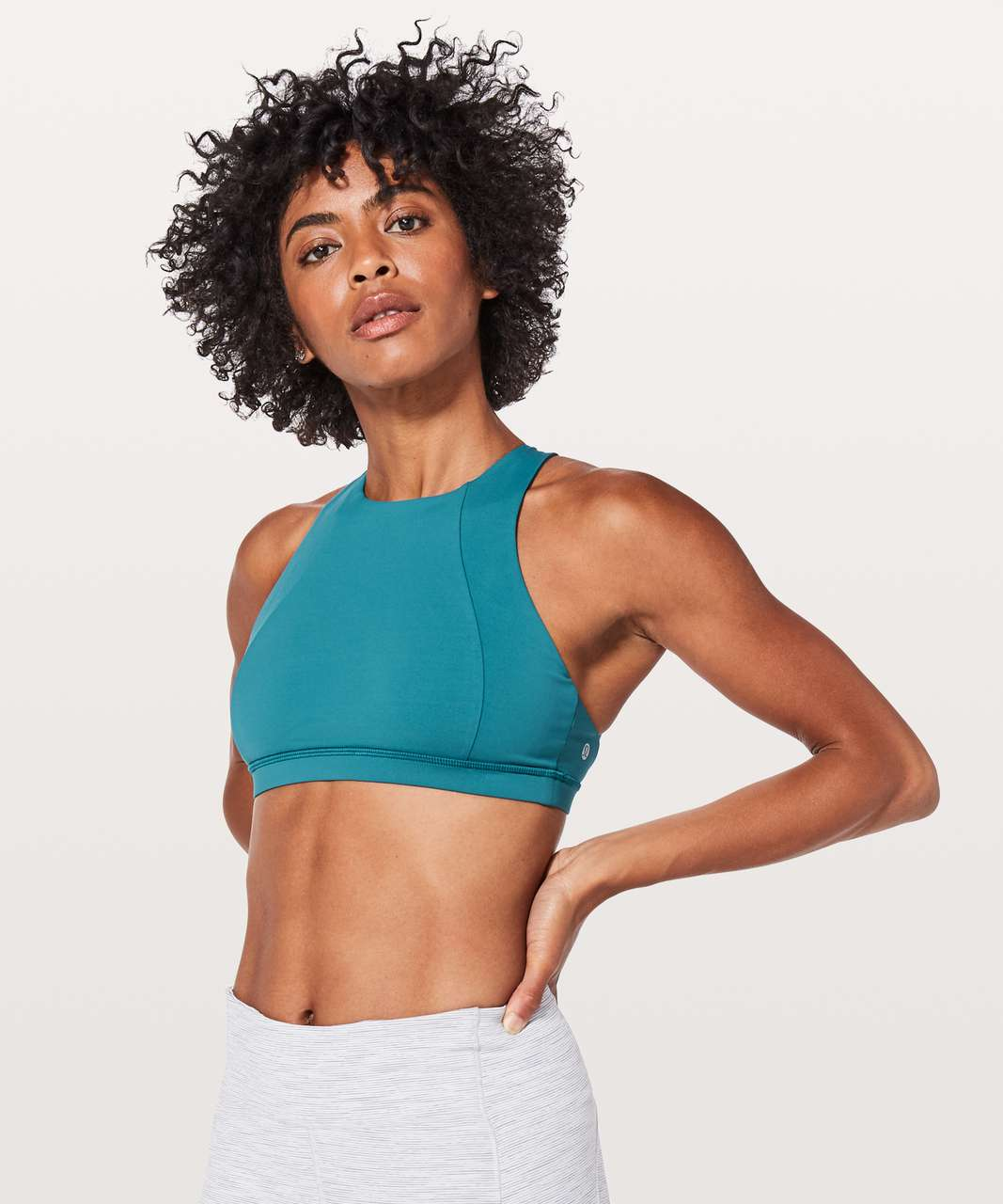 Lululemon Free To Be Serene Bra *High Neck - Pacific Teal / Teal Blue