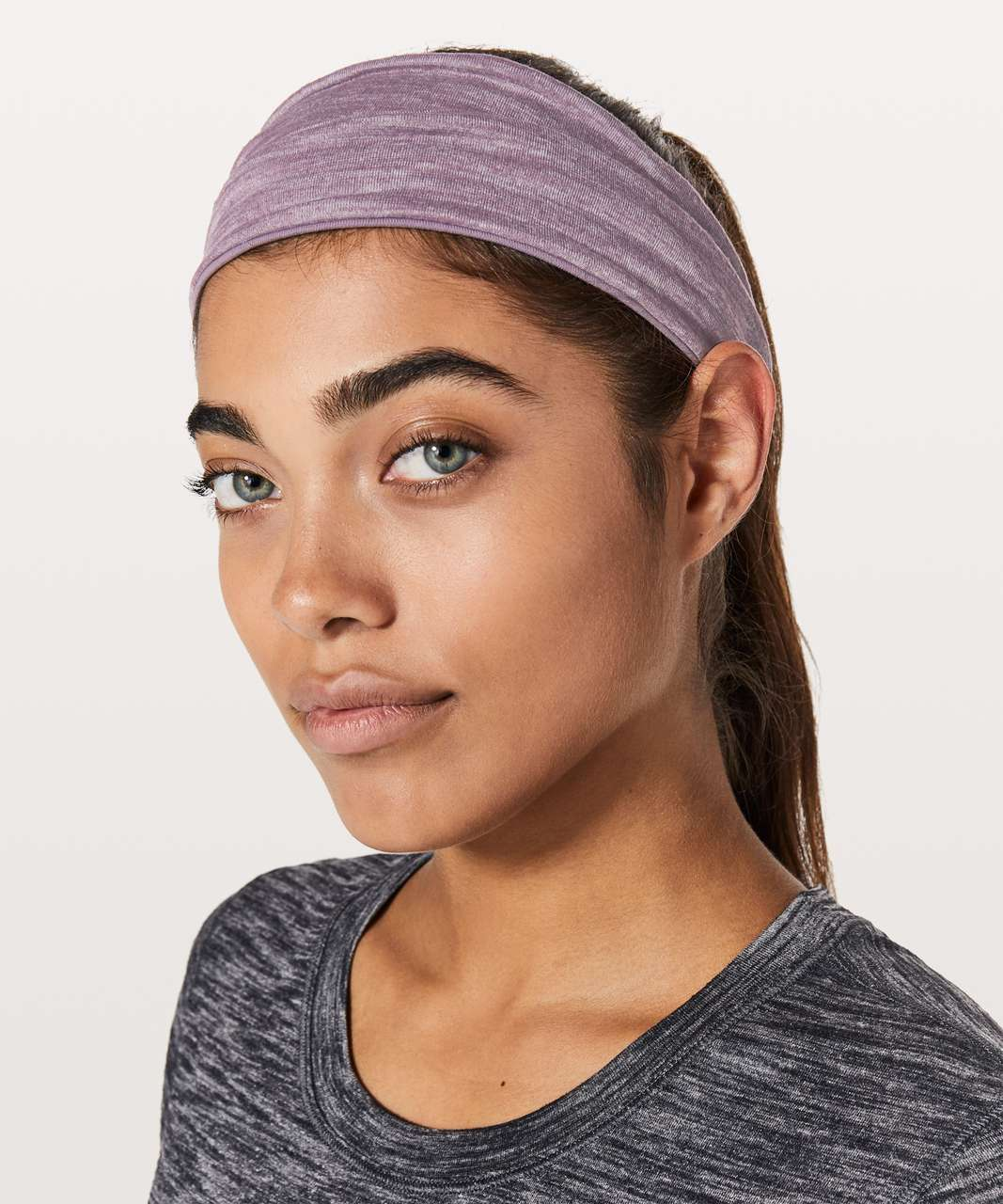 Lululemon Fringe Fighter Headband - Smoked Mulberry / Heathered Smoked Mulberry