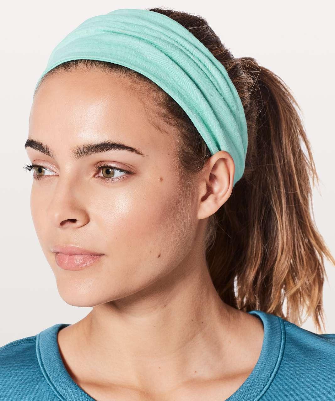 Lululemon Fringe Fighter Headband - Washed Marsh / Heathered Washed Marsh