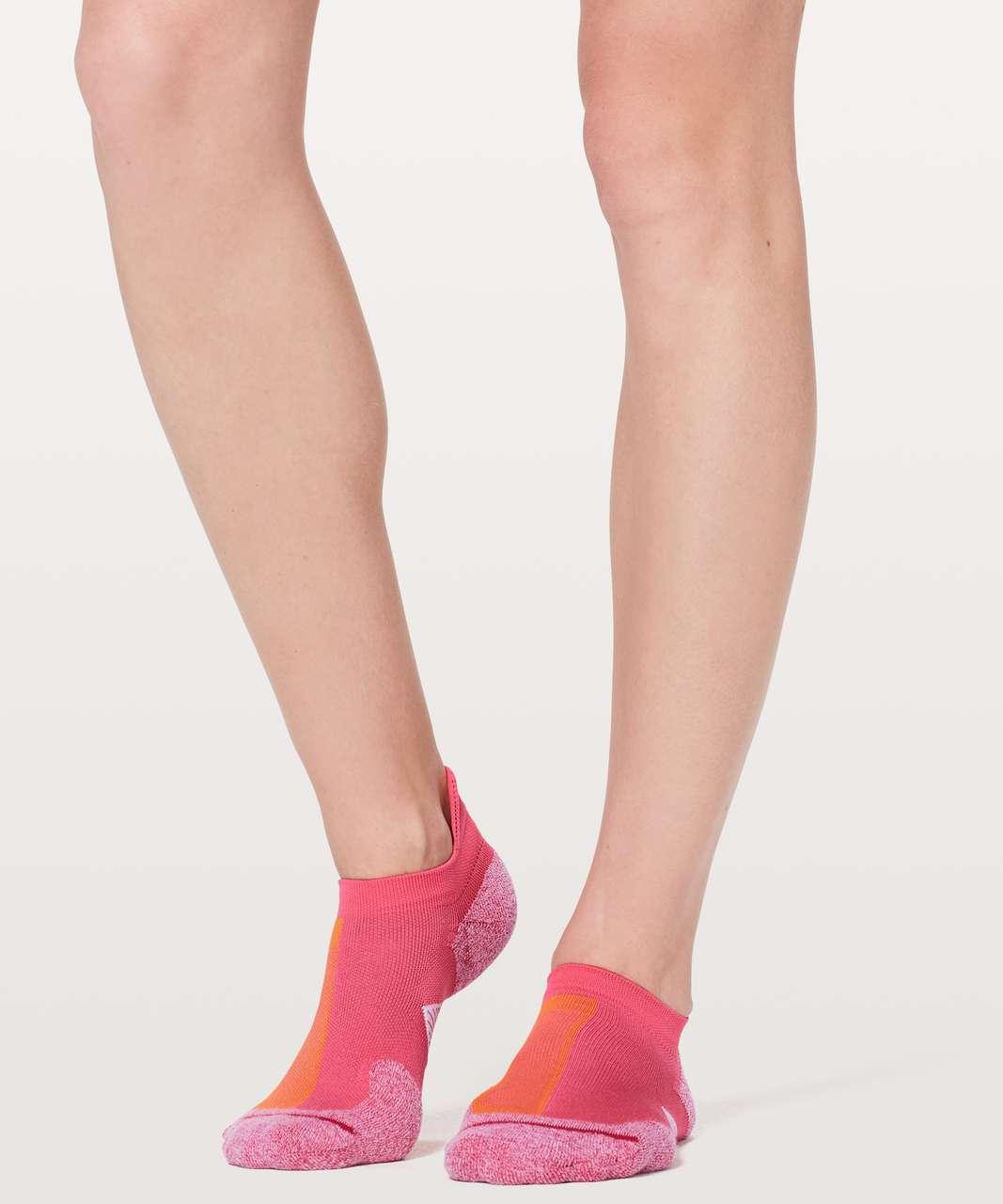 Lululemon Speed Sock *Silver - Glossy / Vivid Amber / Fuchsia Pink