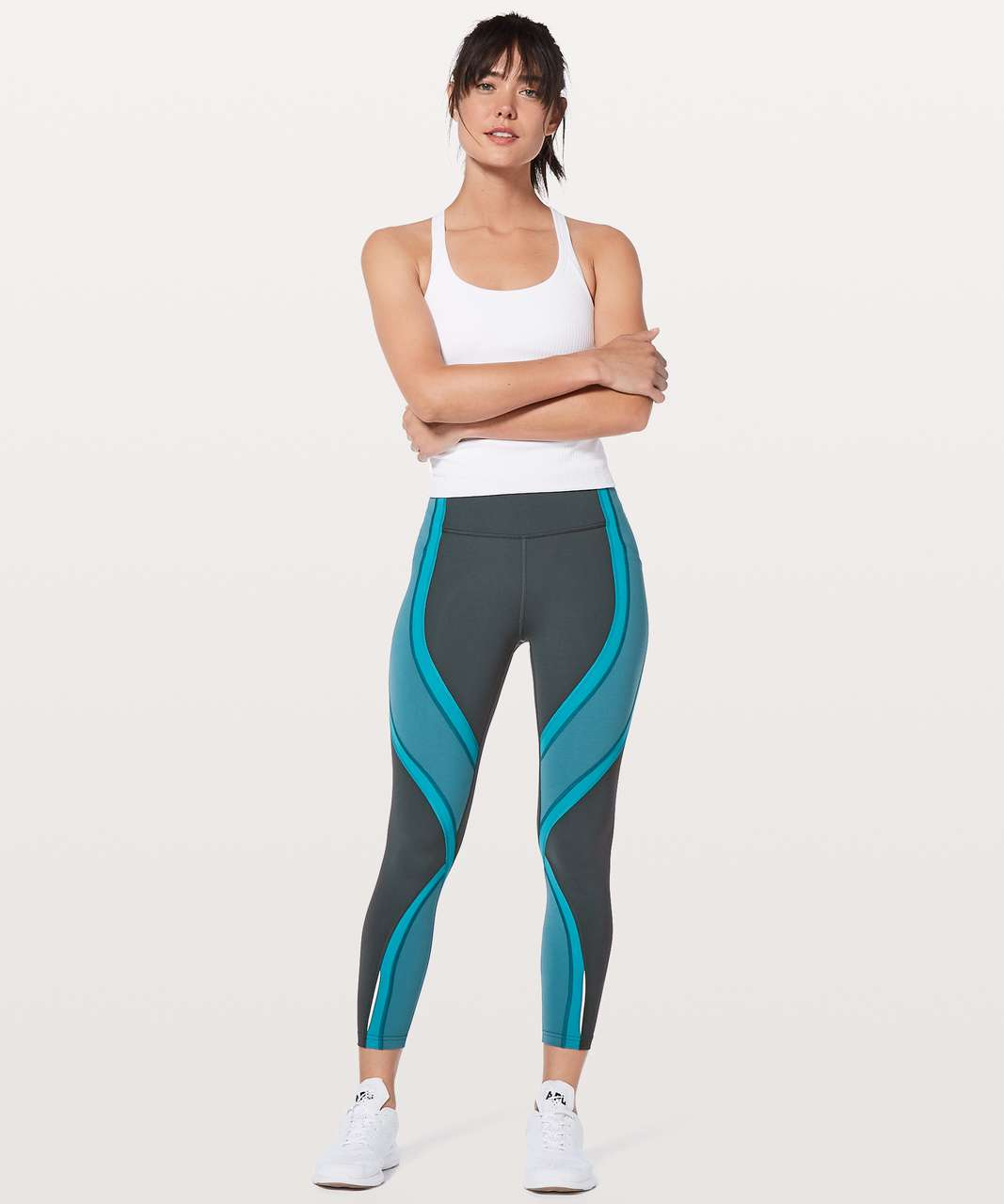 "Lululemon Wild Twist 7/8 Tight *25"" - Gravity / Pacific Teal / Teal Blue"