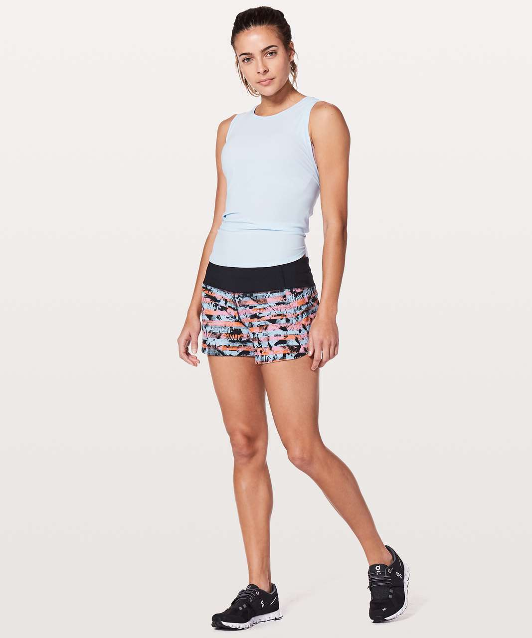 "Lululemon Run Times Short II *4"" - Inversion Multi / Black"