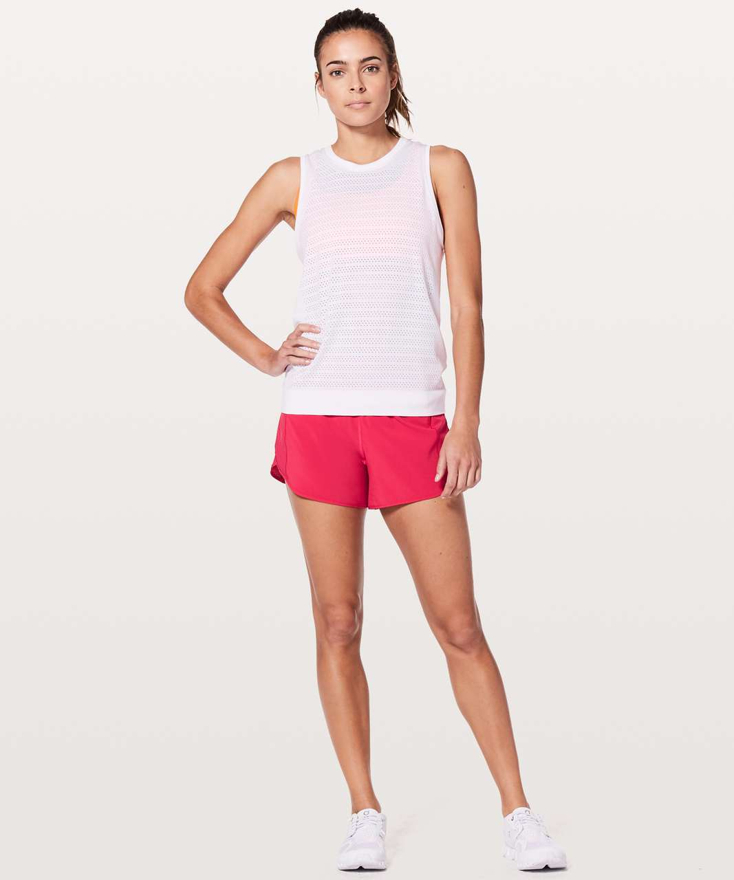 "Lululemon Real Quick Short *Perforated 3.5"" - Fuchsia Pink"
