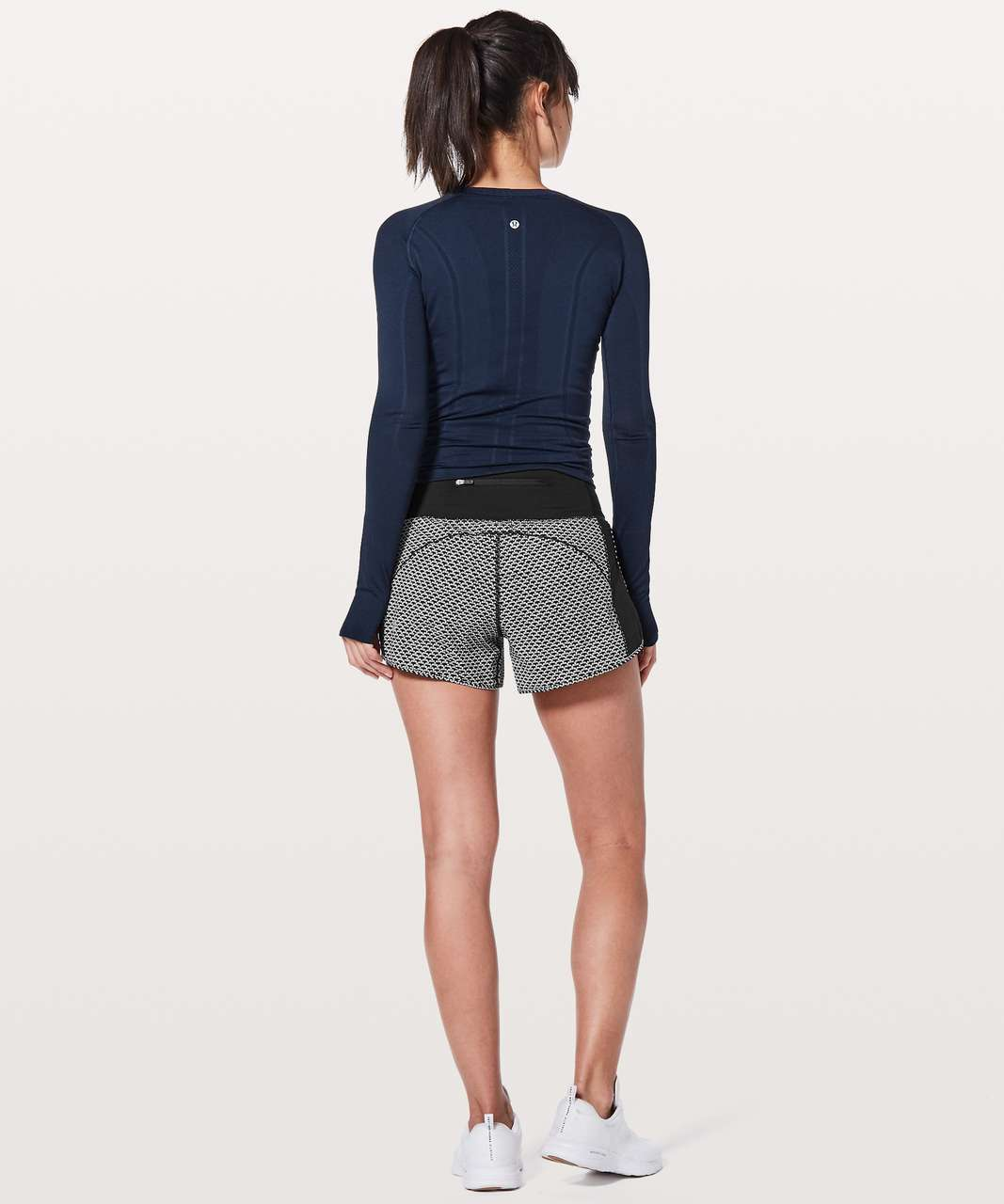 "Lululemon Real Quick Short *Perforated 3.5"" - Monochromic Black"
