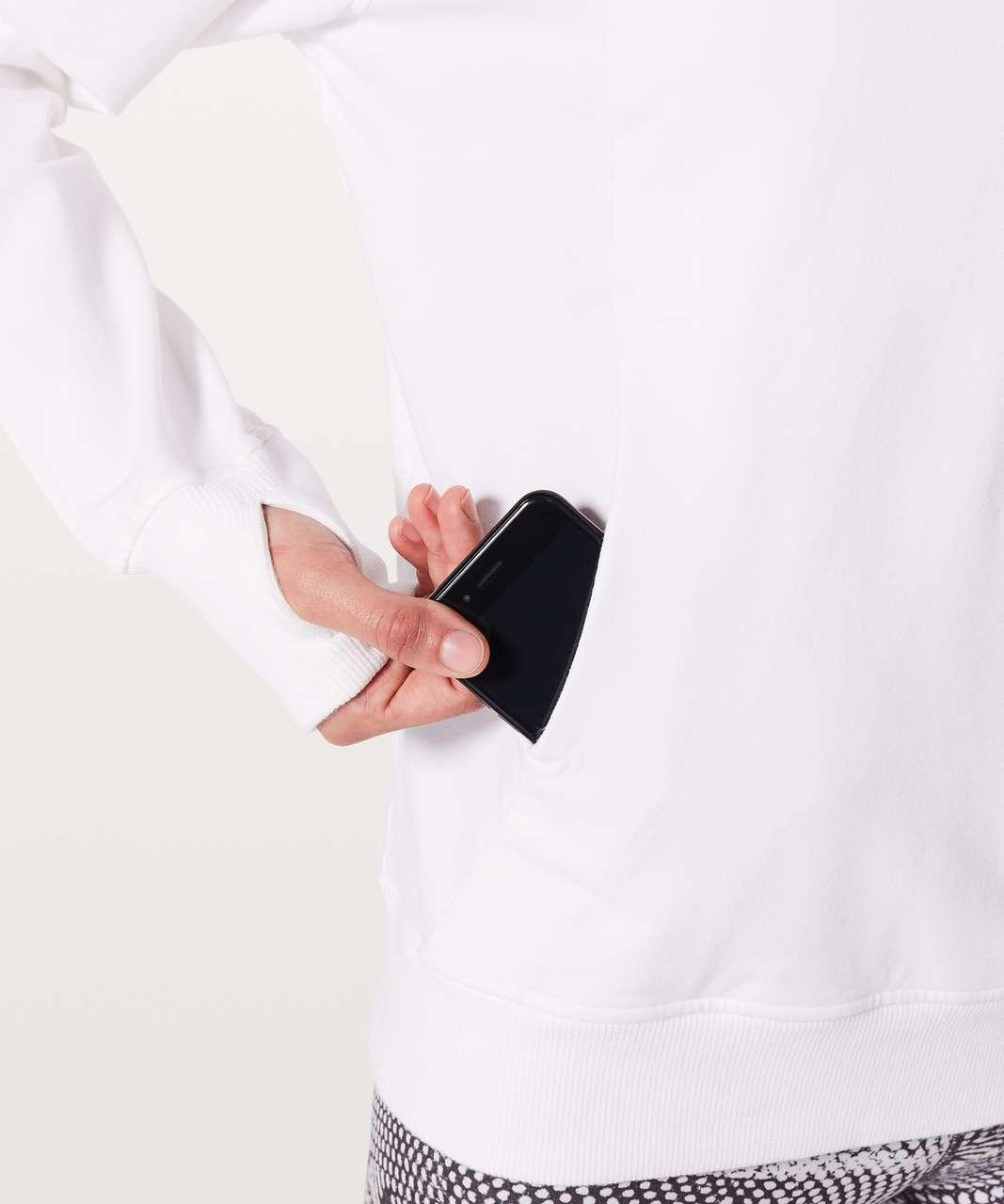 Lululemon Scuba Pullover - White